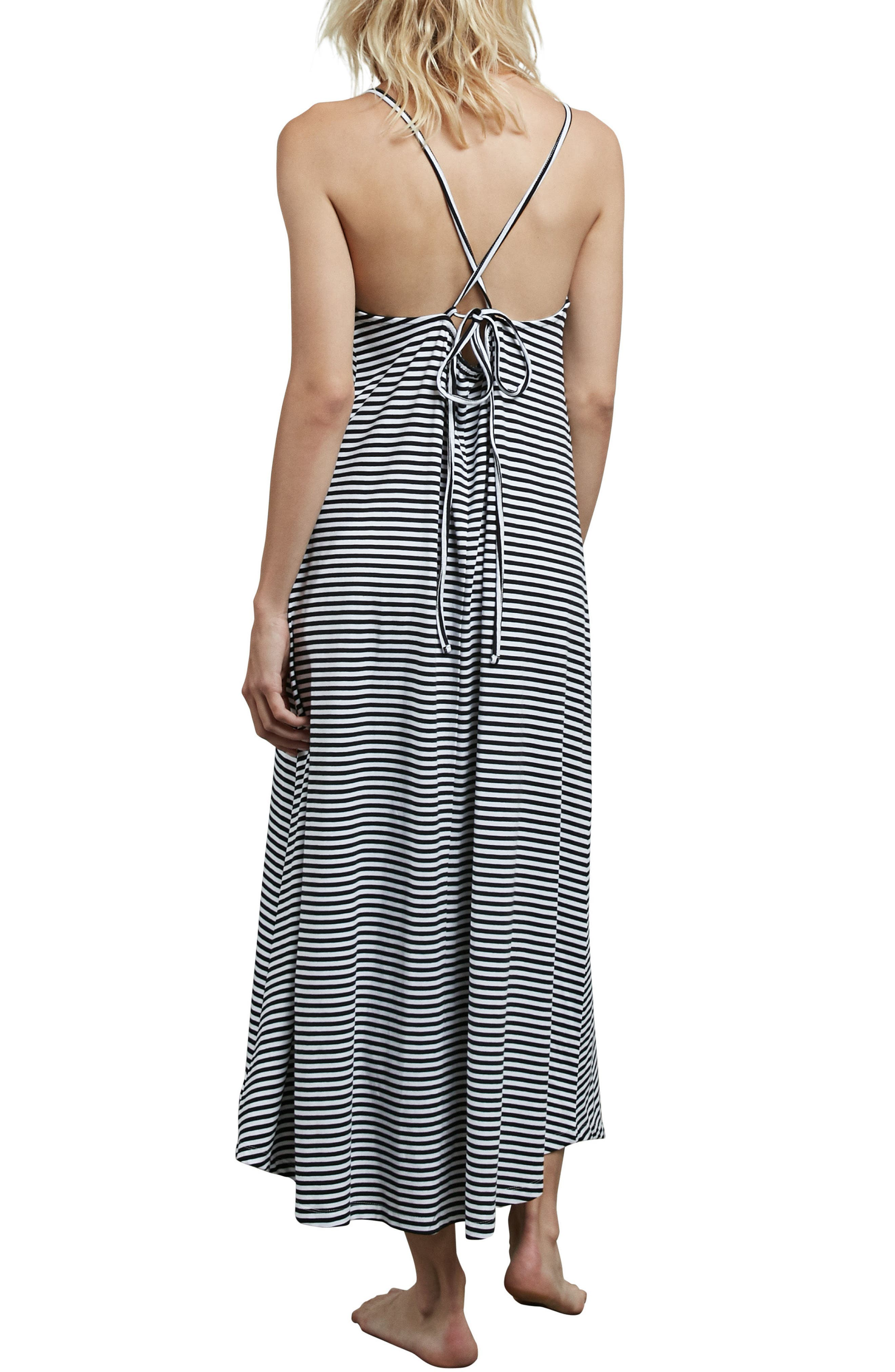 Lil Stripe Maxi Dress,                             Alternate thumbnail 2, color,                             White