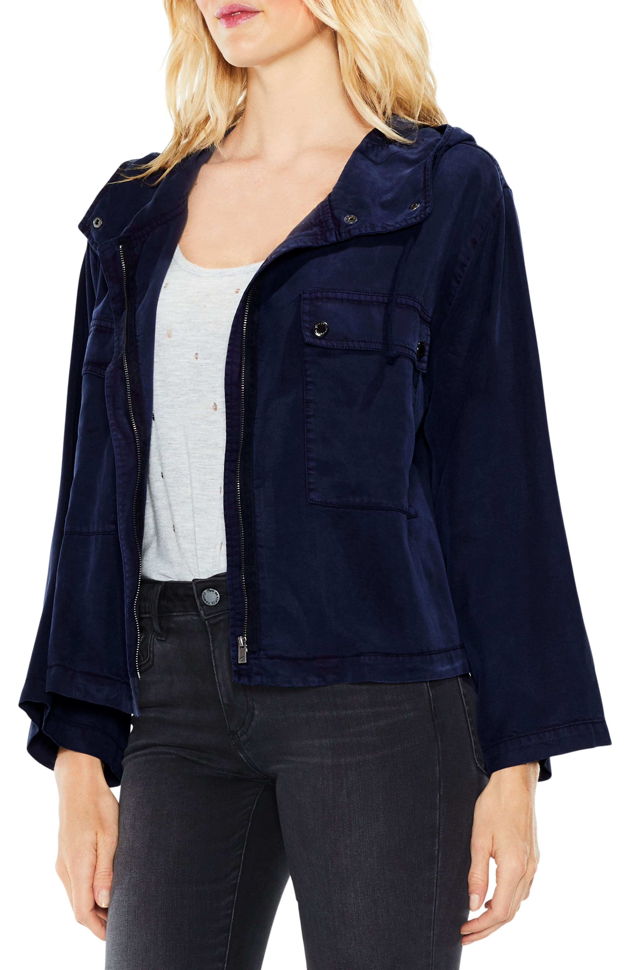 Main Image - Two by Vince Camuto Bell Sleeve Hooded Jacket