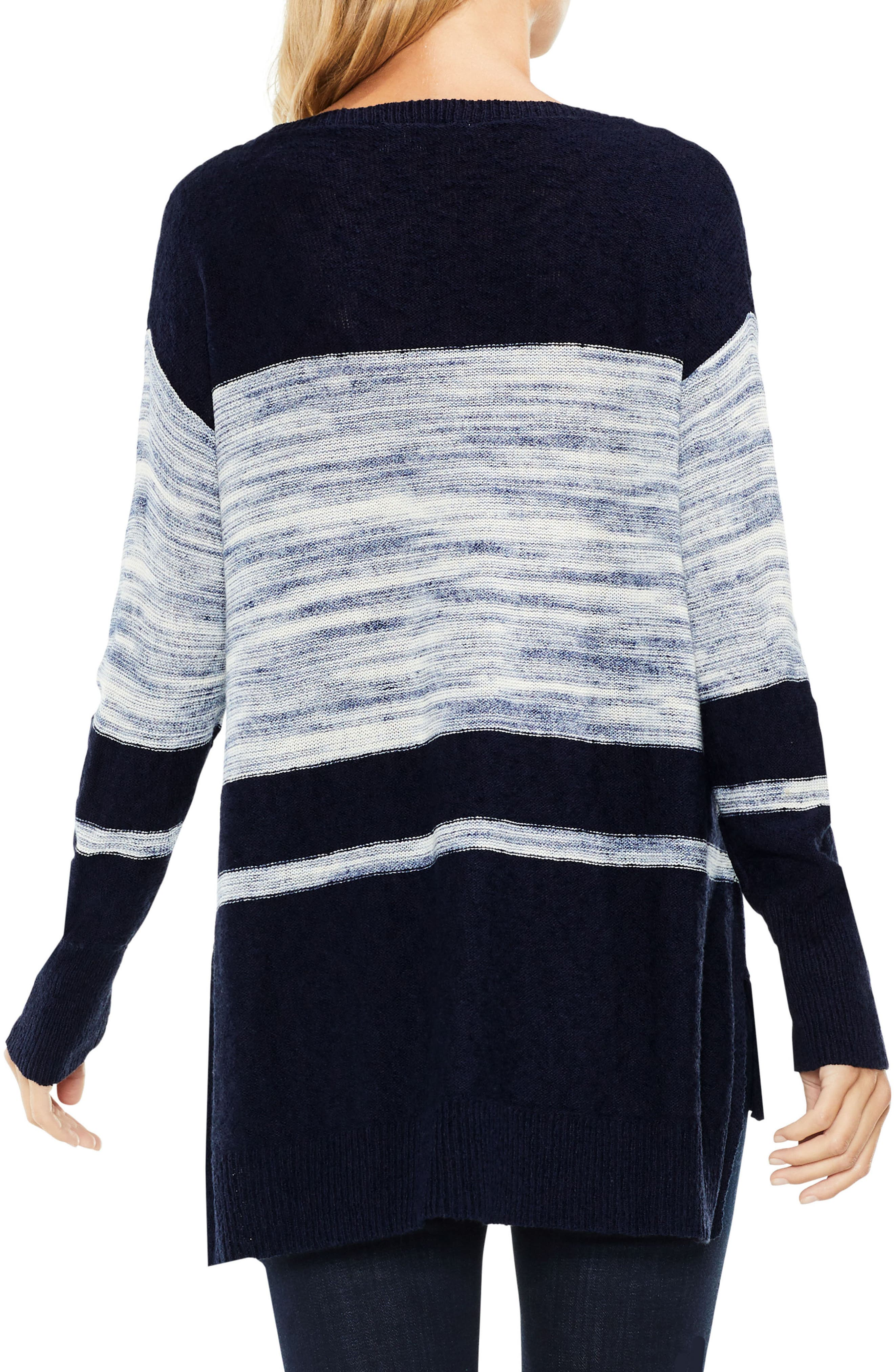 Alternate Image 2  - Two by Vince Camuto Space Dye Stripe Sweater