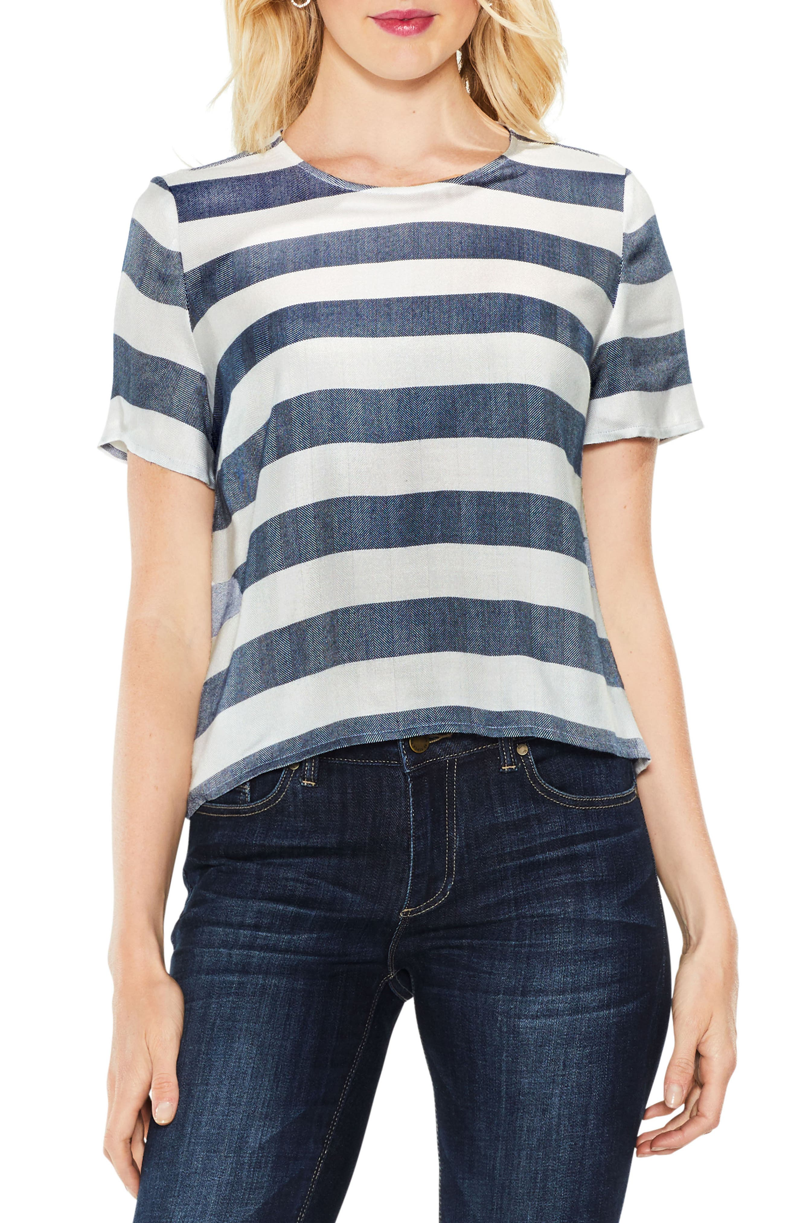 Alternate Image 1 Selected - Two by Vince Camuto Refined Herringbone Top