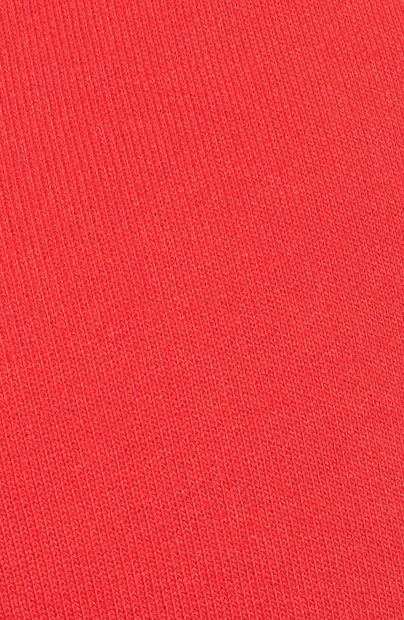 Raw Hem Crop Sweatpants,                             Alternate thumbnail 6, color,                             Flash