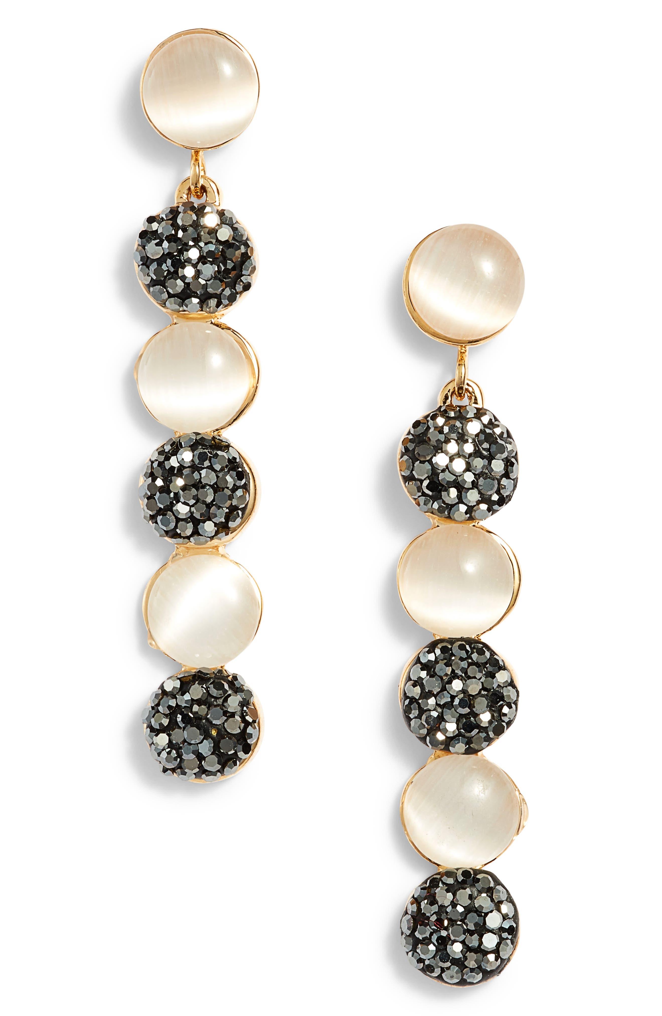 Elise M. Alaise Moonstone Statement Earrings