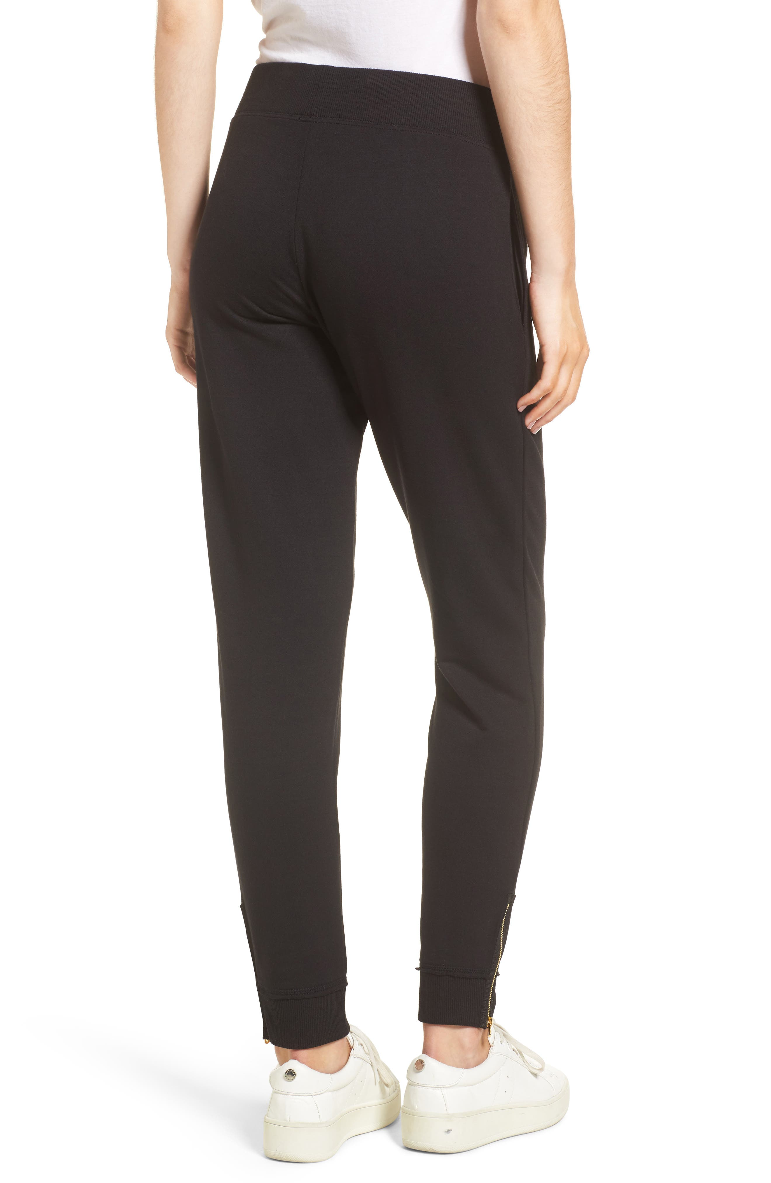 Zip Sweatpants,                             Alternate thumbnail 3, color,                             Black