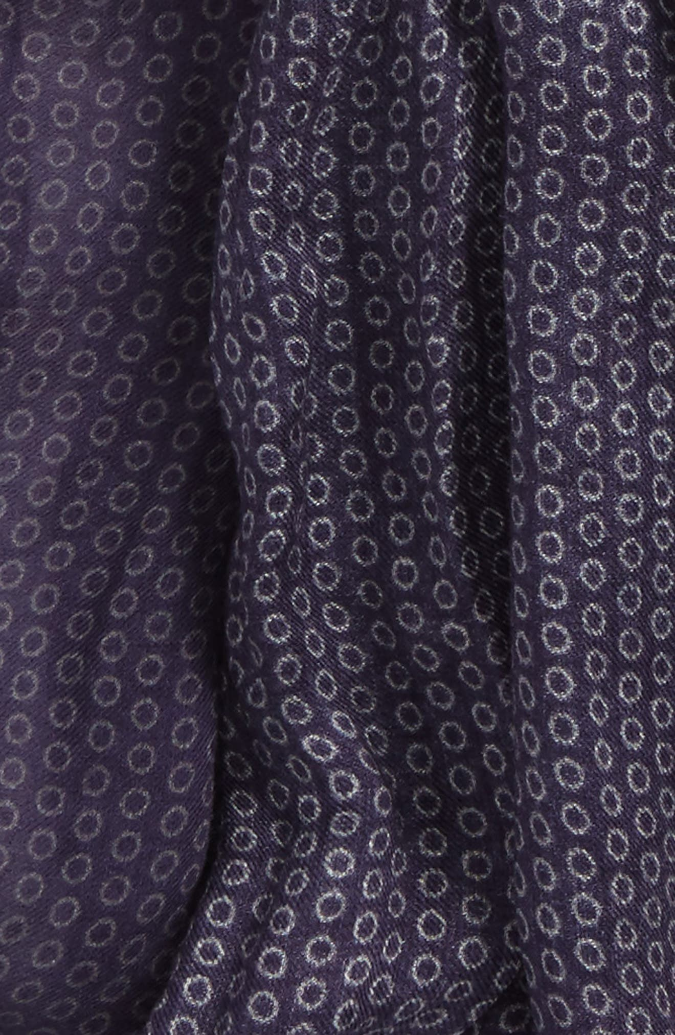 Crinkled Dot Modal & Wool Scarf,                             Alternate thumbnail 3, color,                             Antique Purple