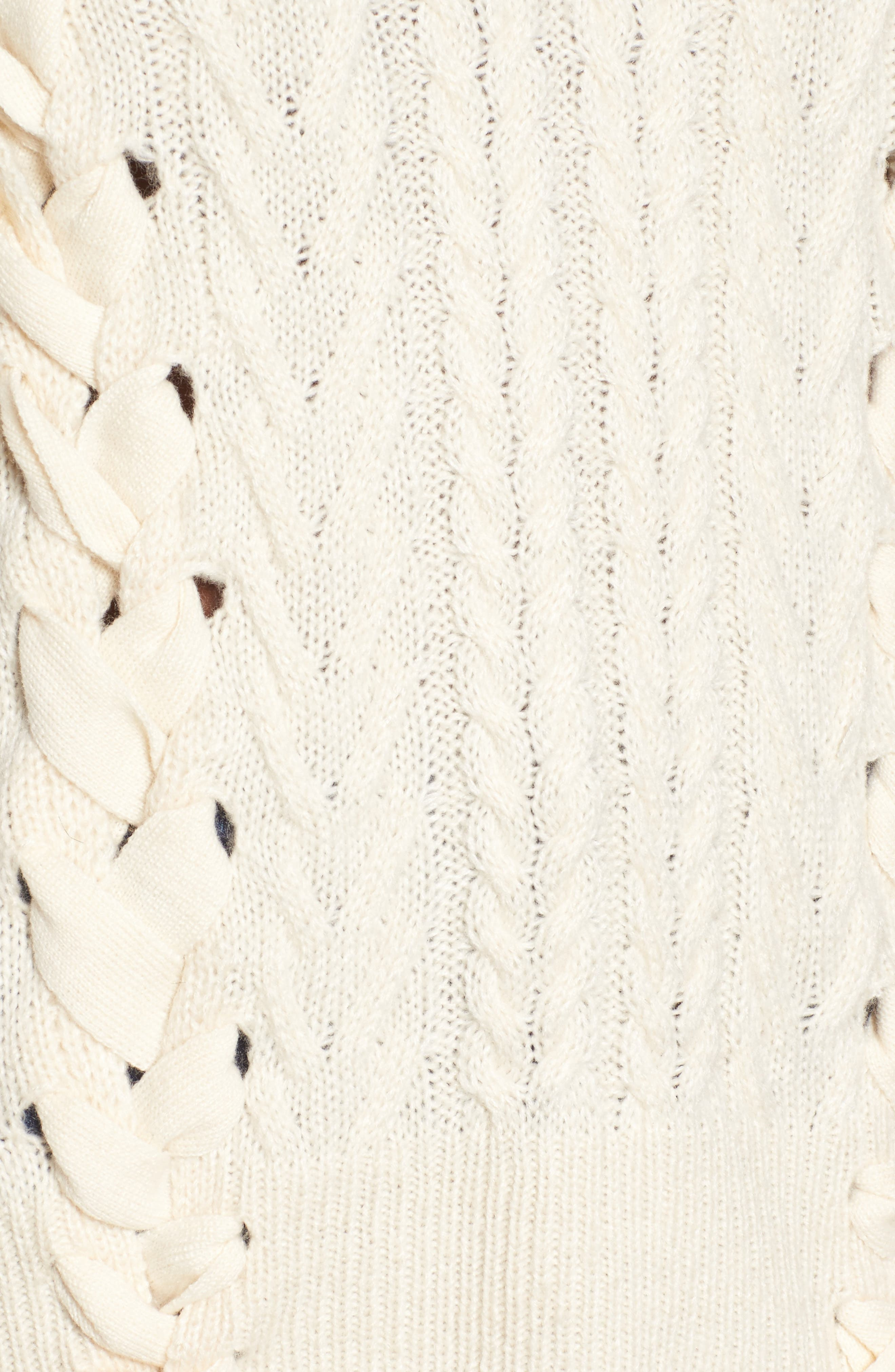 Stitch Detail Sweater,                             Alternate thumbnail 5, color,                             Ivory