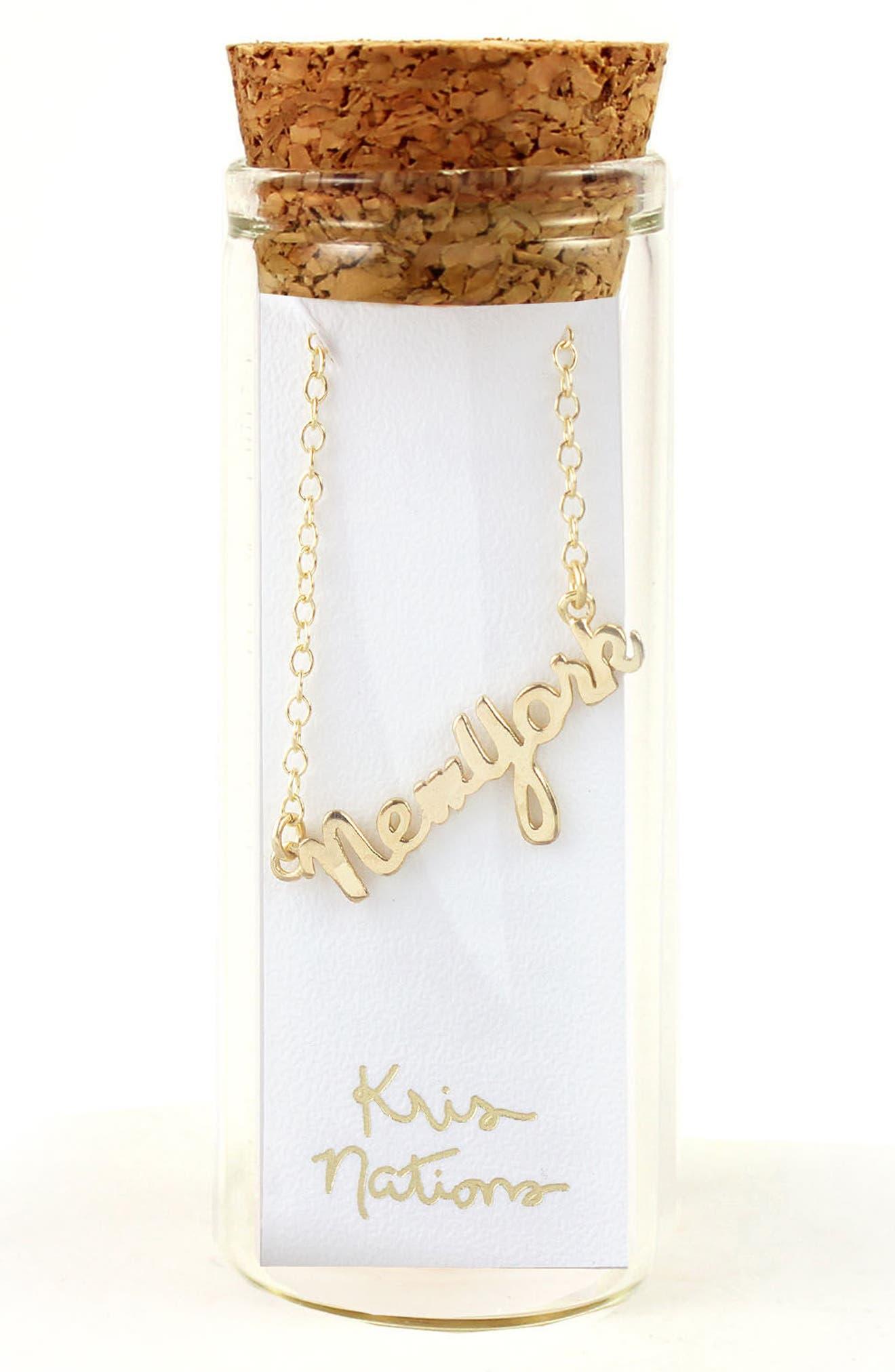 Alternate Image 2  - Kris Nations State Script Charm Necklace