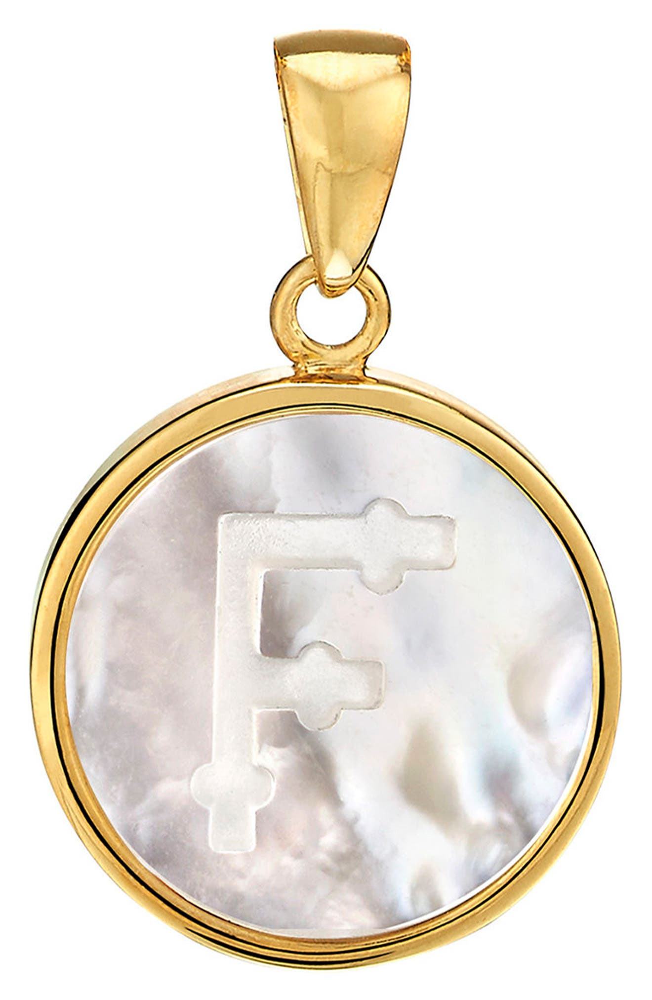 Alternate Image 1 Selected - ASHA Mother-of-Pearl Initial Charm