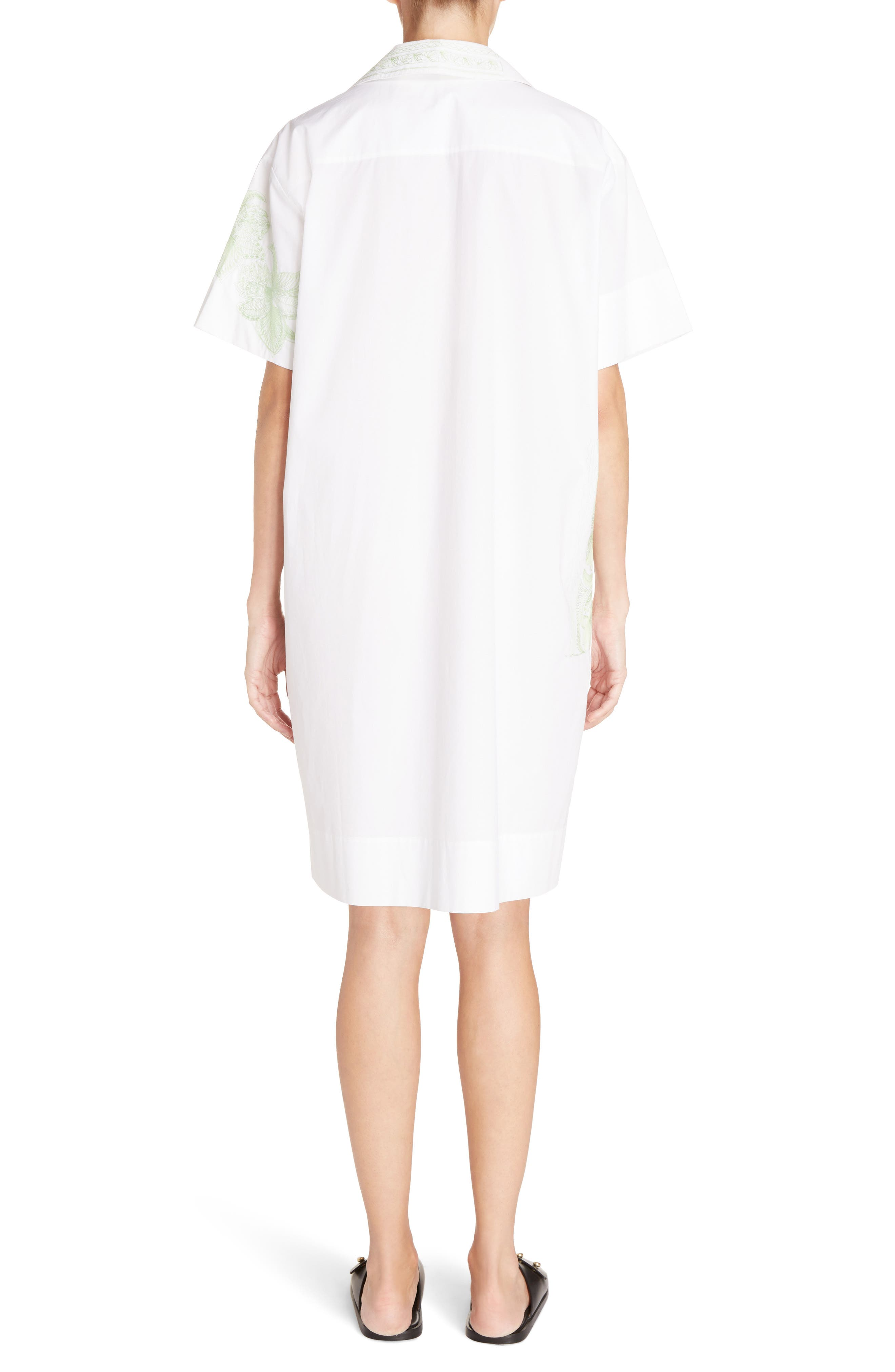 Jusso Embroidered Shirtdress,                             Alternate thumbnail 2, color,                             White