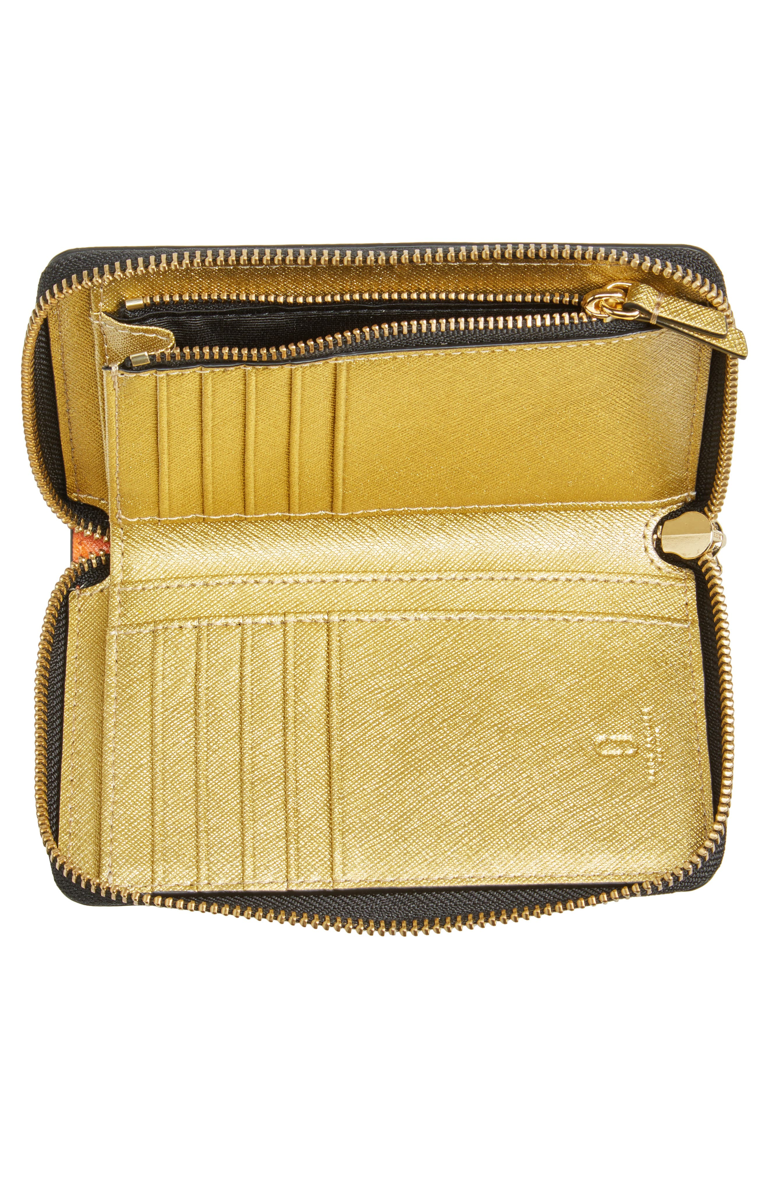 Alternate Image 2  - MARC JACOBS Small Snapshot Leather Zip-Around Wallet