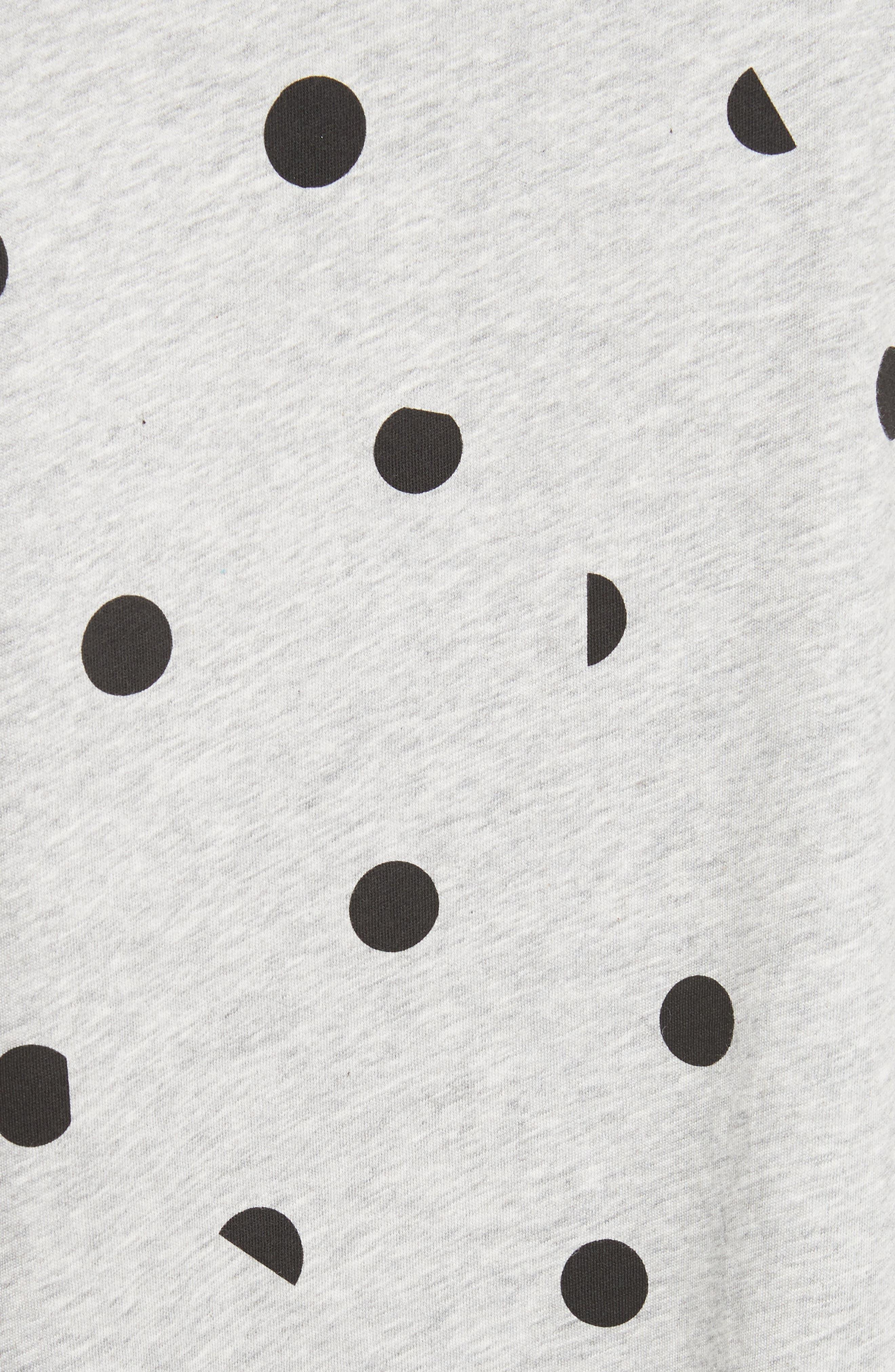 être cécile Banana Dot Boyfriend Tank,                             Alternate thumbnail 5, color,                             Grey Marl/ Black Dot