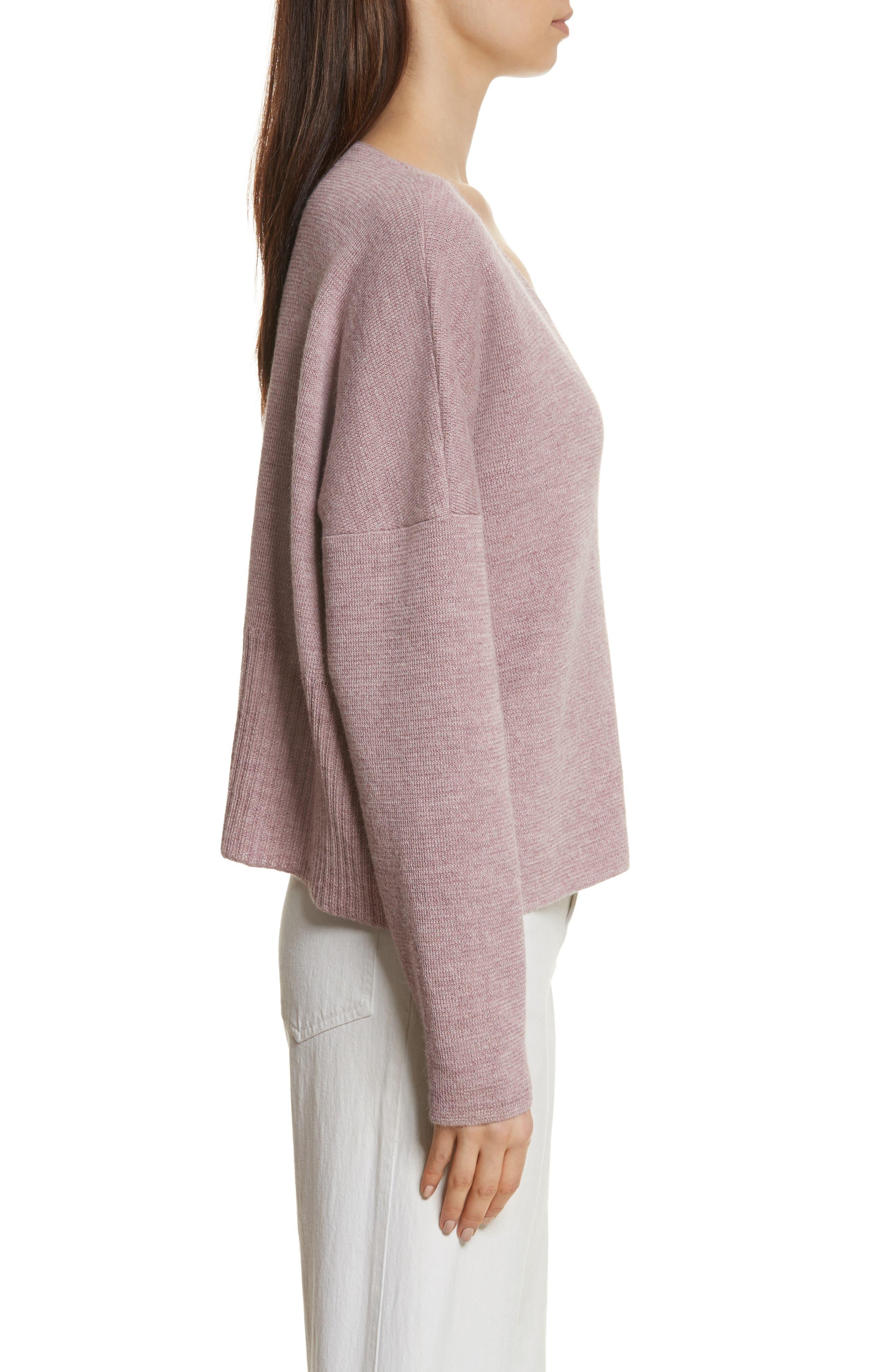 Fount Alpaca Hair Sweater,                             Alternate thumbnail 3, color,                             Lilac