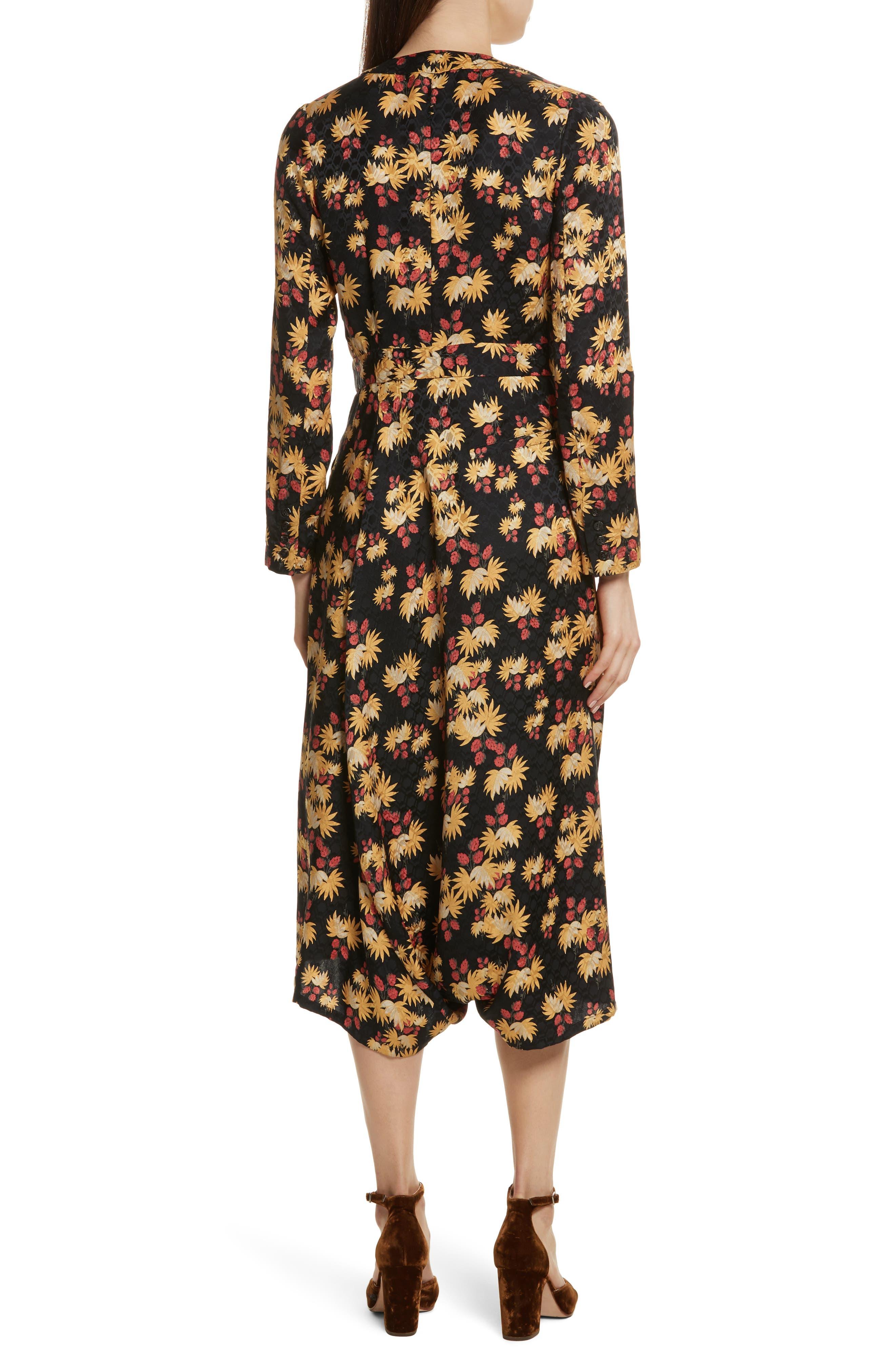 Uvalde Print Silk Jumpsuit,                             Alternate thumbnail 2, color,                             Black Multi