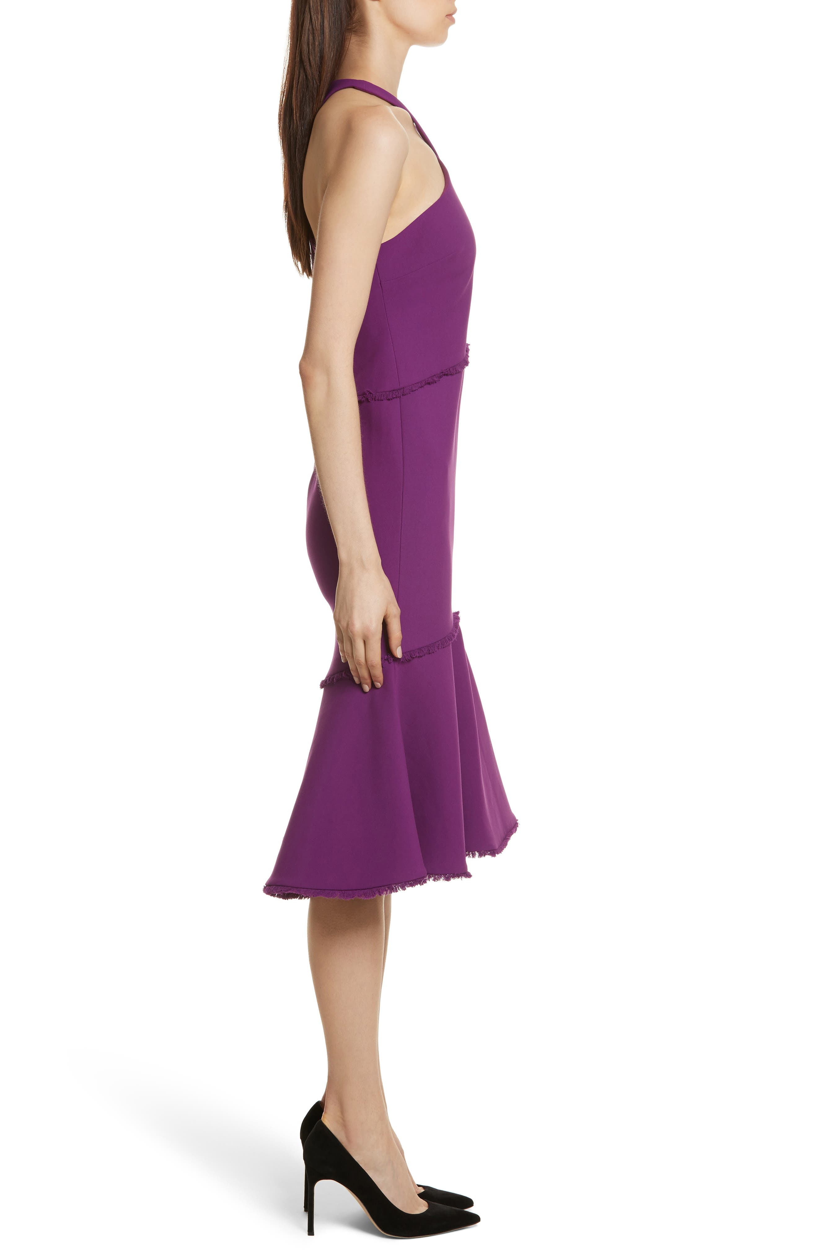 Dante Halter Dress,                             Alternate thumbnail 3, color,                             Amethyst