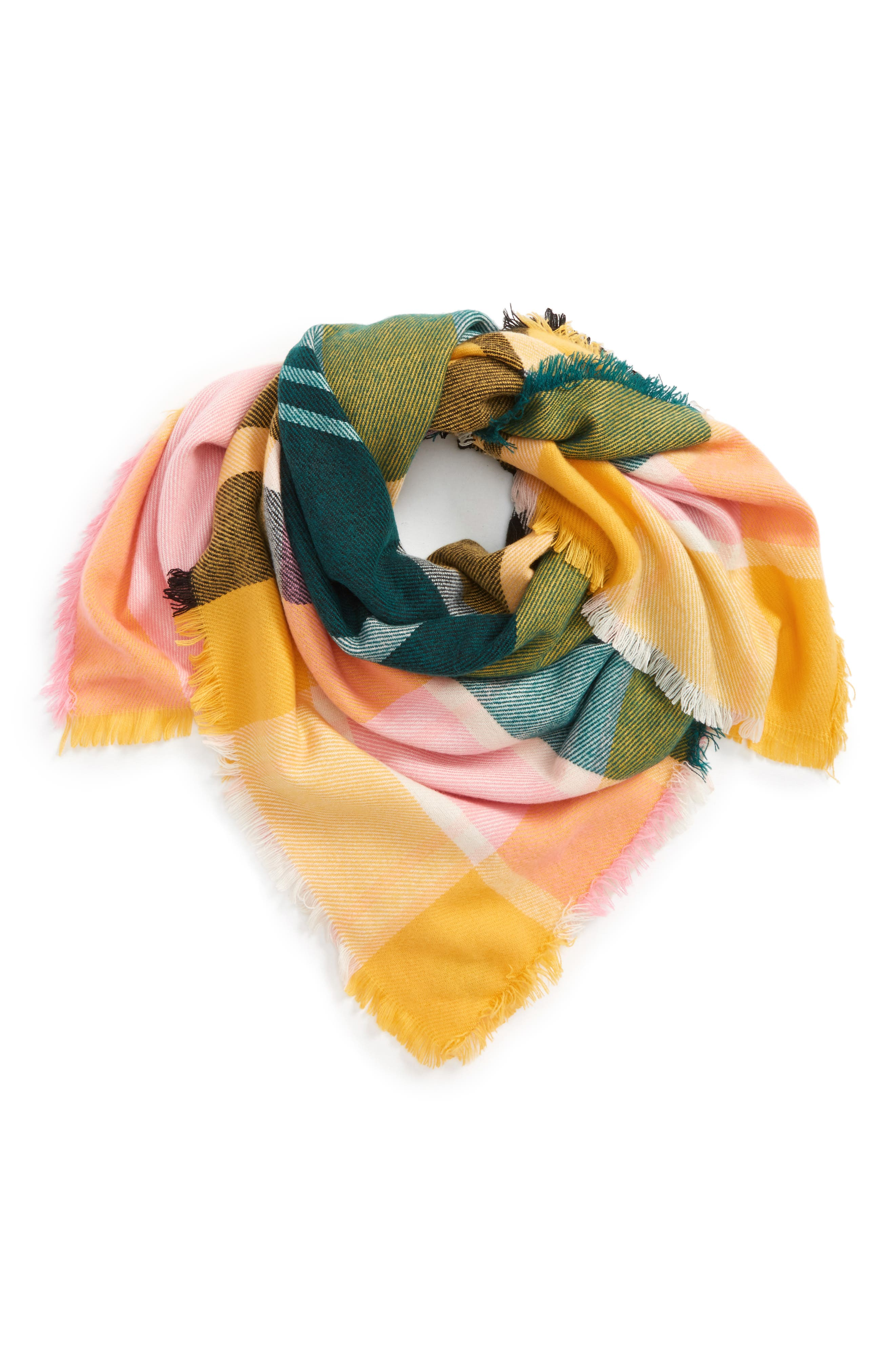 David & Young Bold Plaid Square Scarf