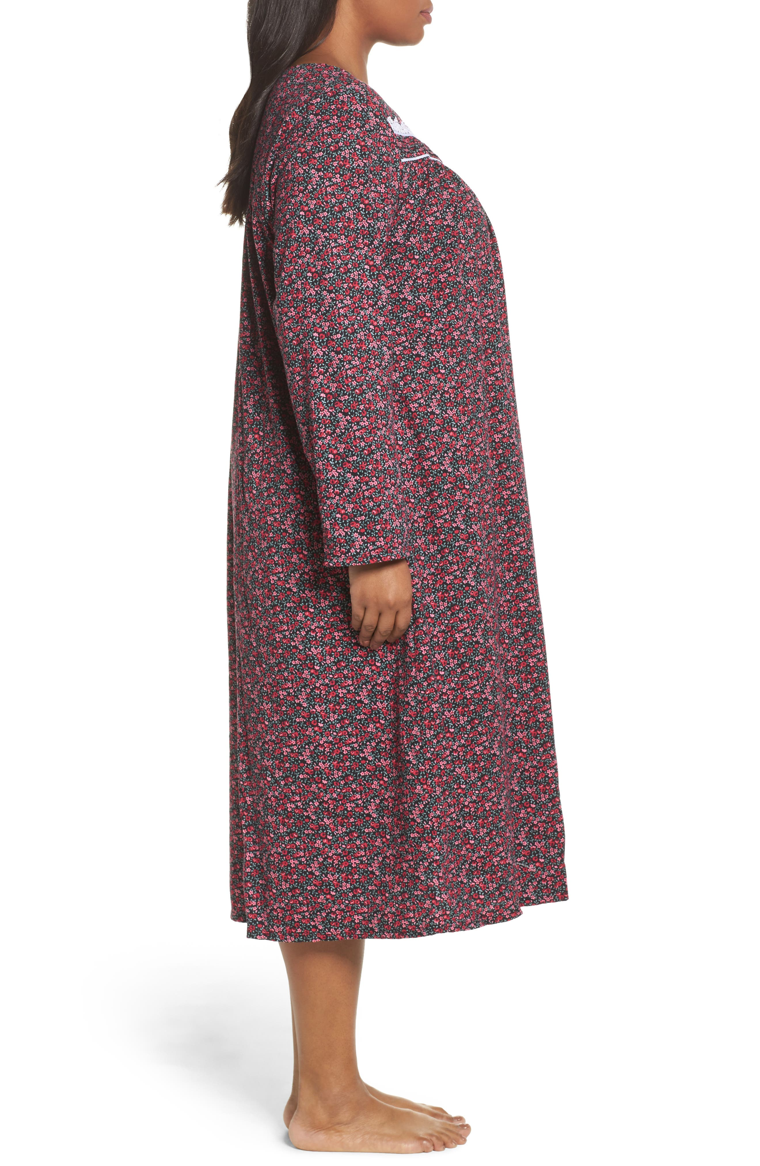 Alternate Image 3  - Eileen West Cotton Nightgown (Plus Size)