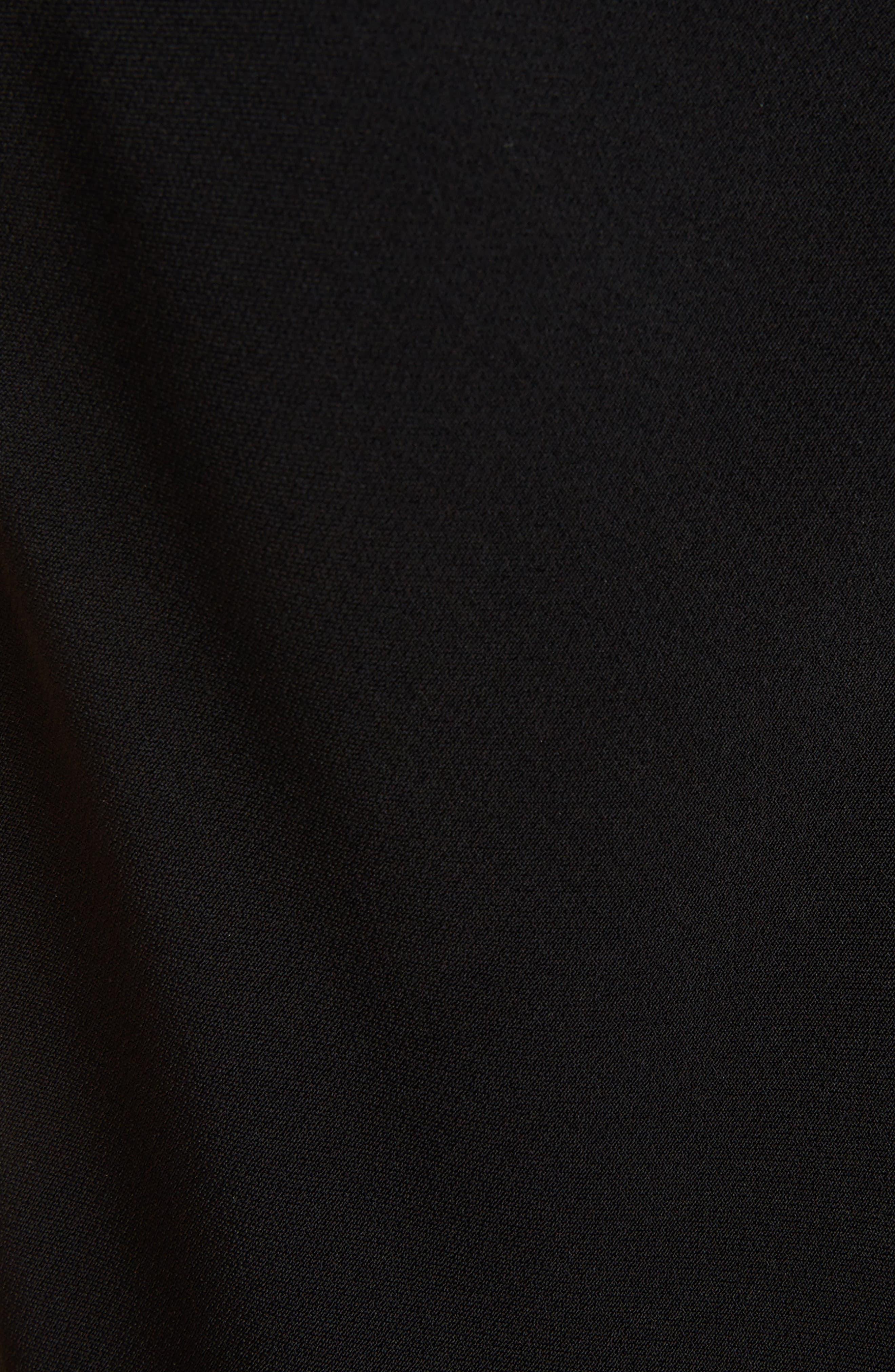 Cady Midi Dress,                             Alternate thumbnail 5, color,                             Black