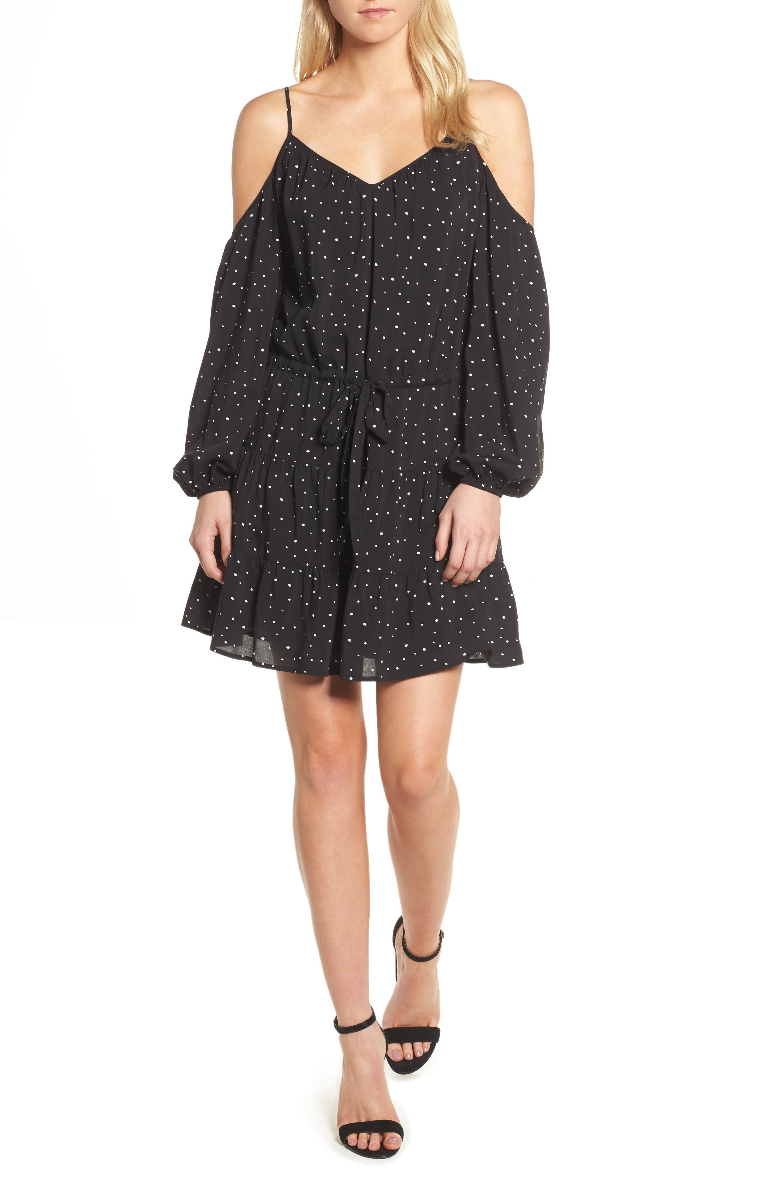 PAIGE Carmine Cold Shoulder Dress