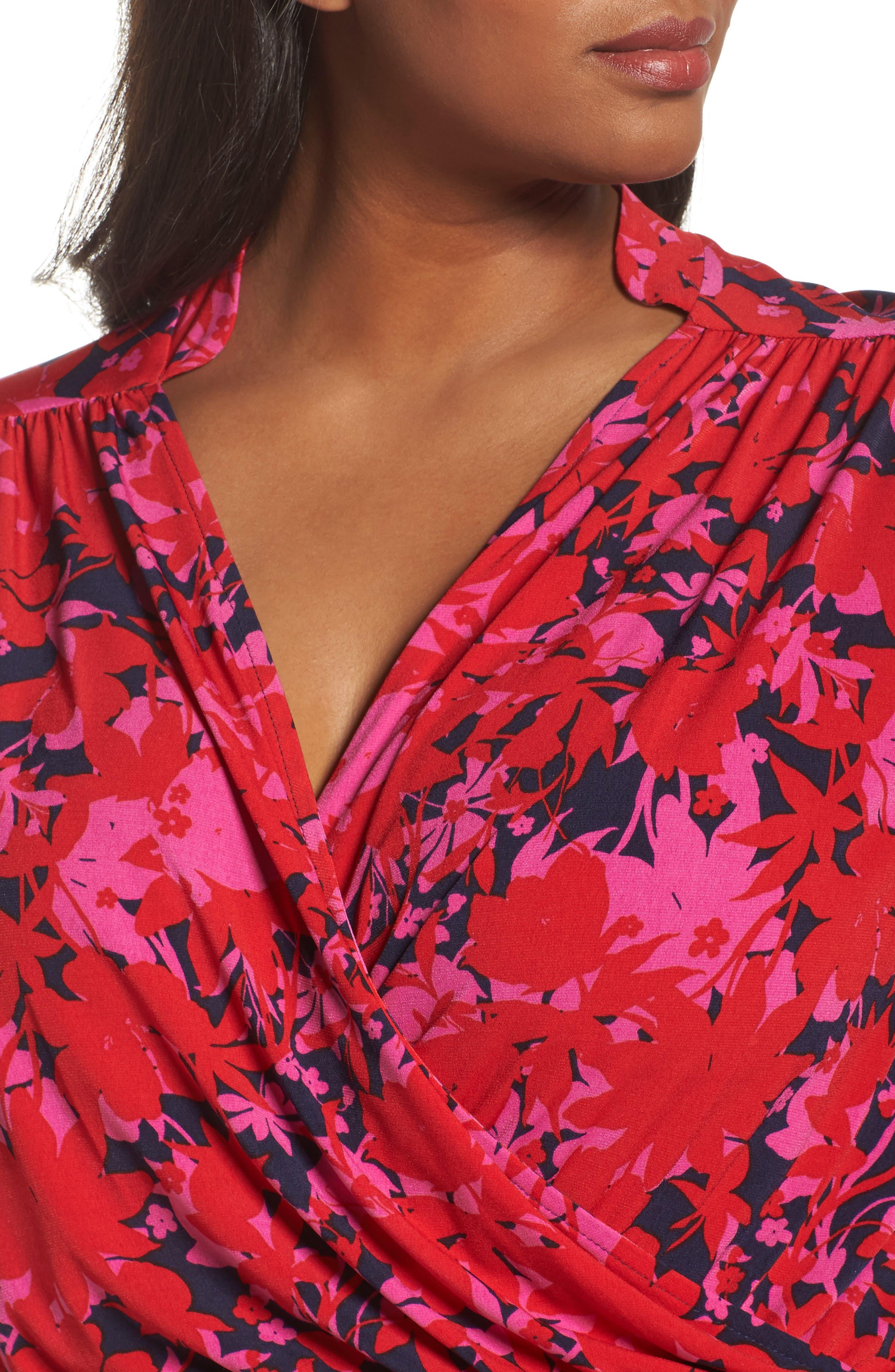 Alternate Image 4  - Leota Bridget Floral Faux Wrap Maxi Dress (Plus Size)