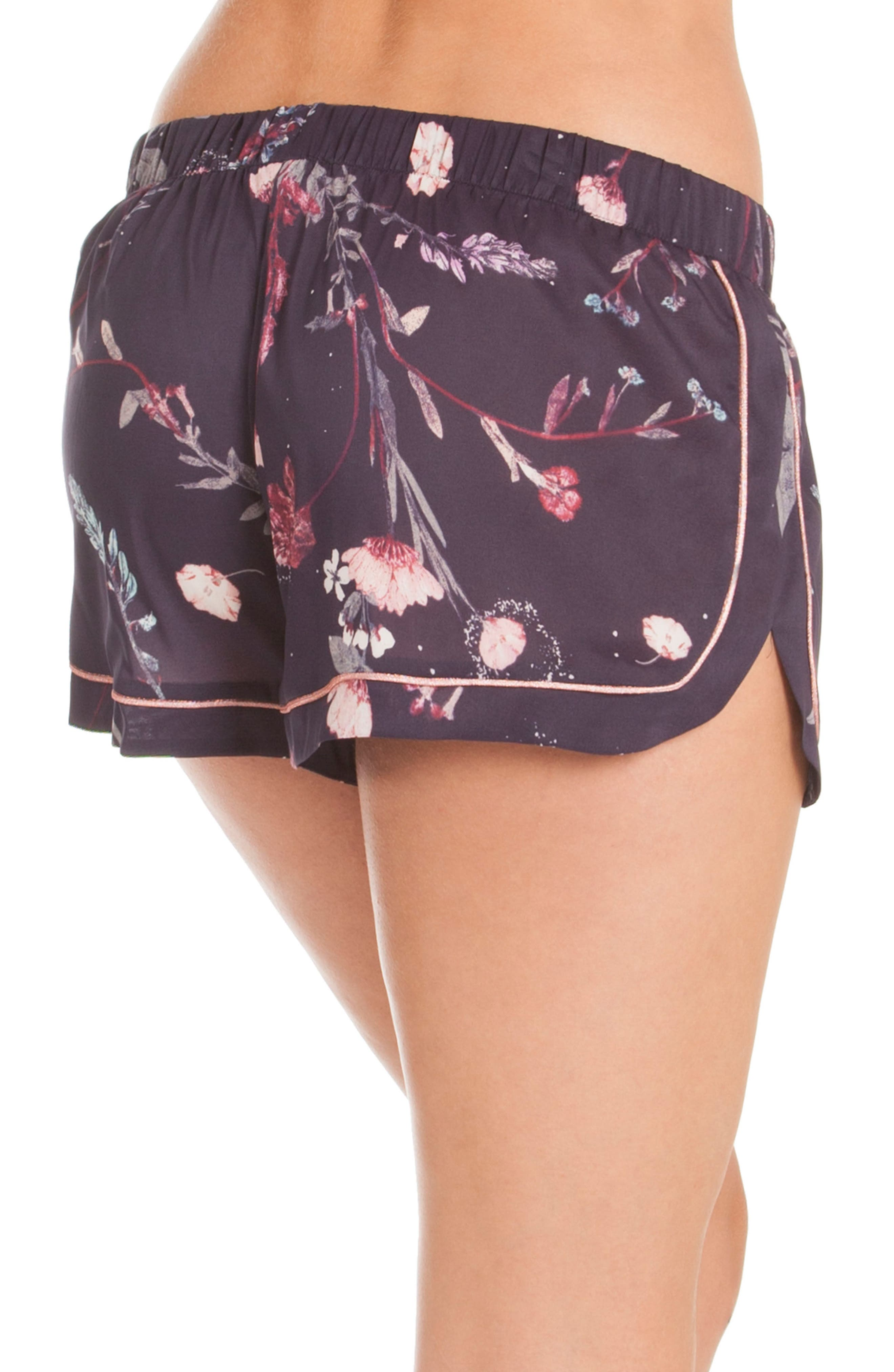 Print Lounge Shorts,                             Alternate thumbnail 3, color,                             Meadow