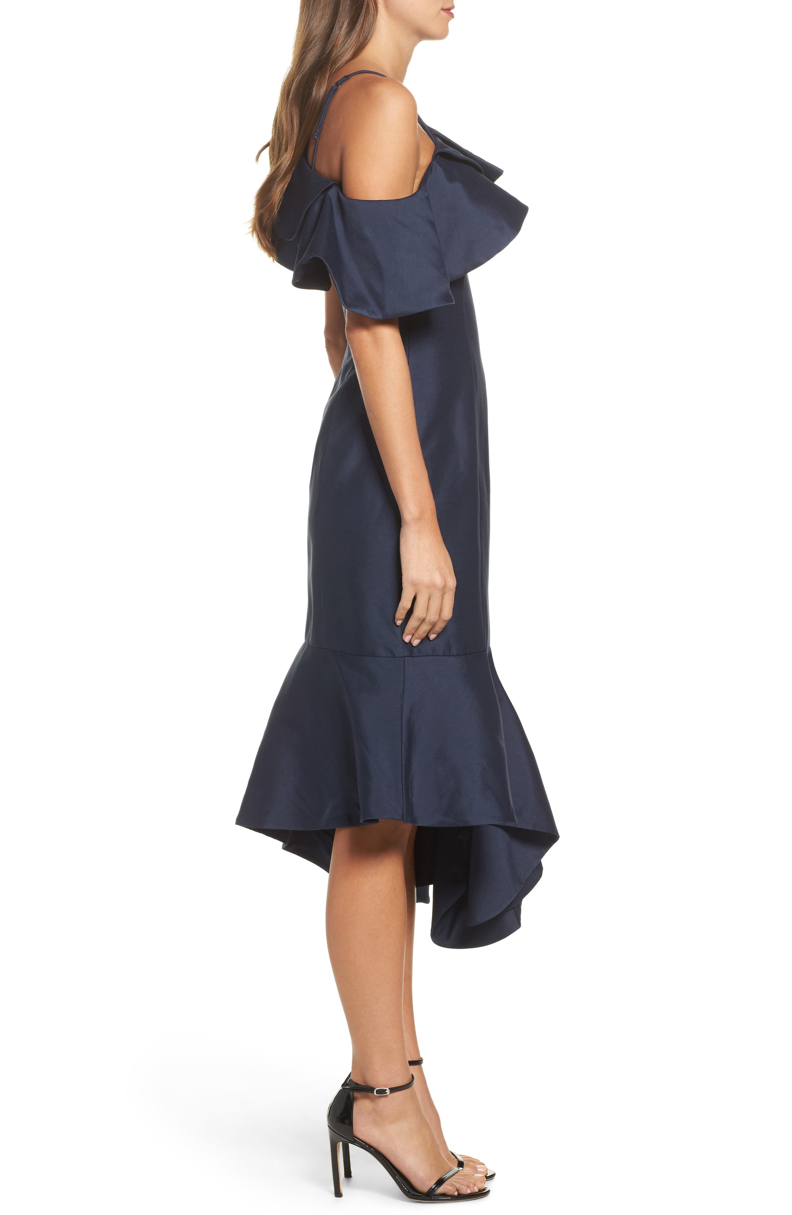 Night Lights Midi Dress,                             Alternate thumbnail 3, color,                             Navy
