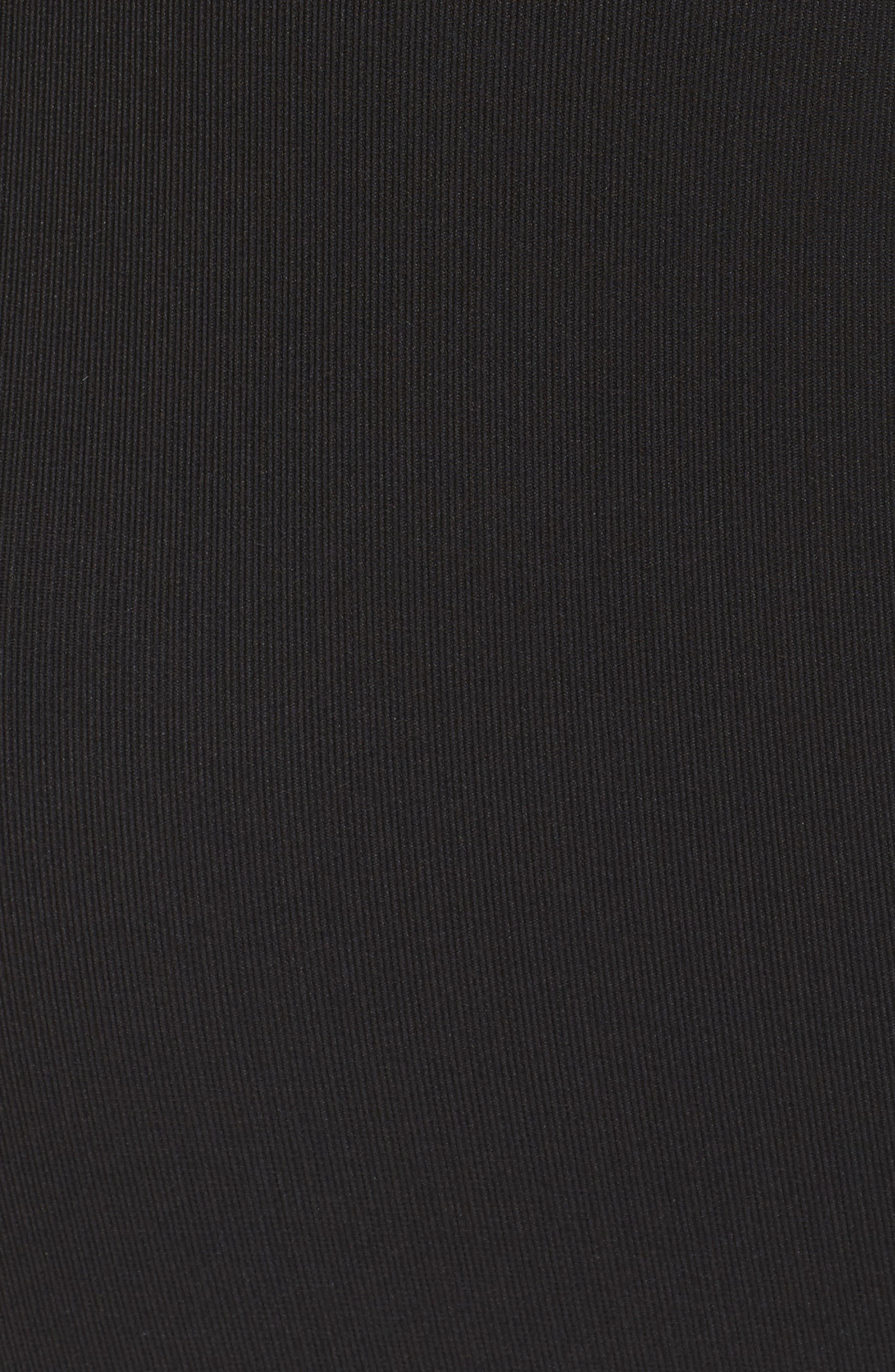 Corset Body-Con Dress,                             Alternate thumbnail 5, color,                             Black