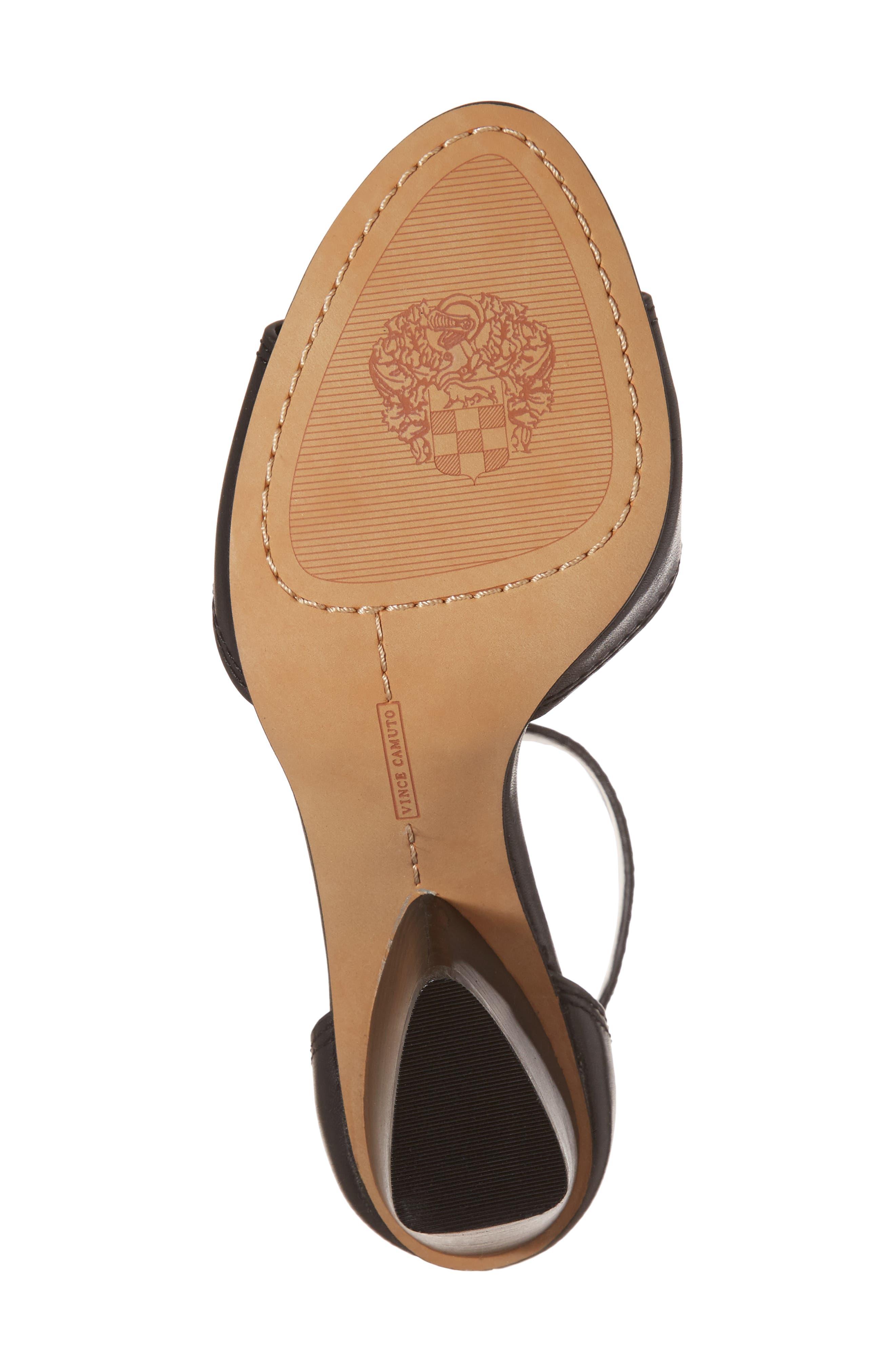 Driton Ankle Strap Sandal,                             Alternate thumbnail 6, color,                             Black Leather