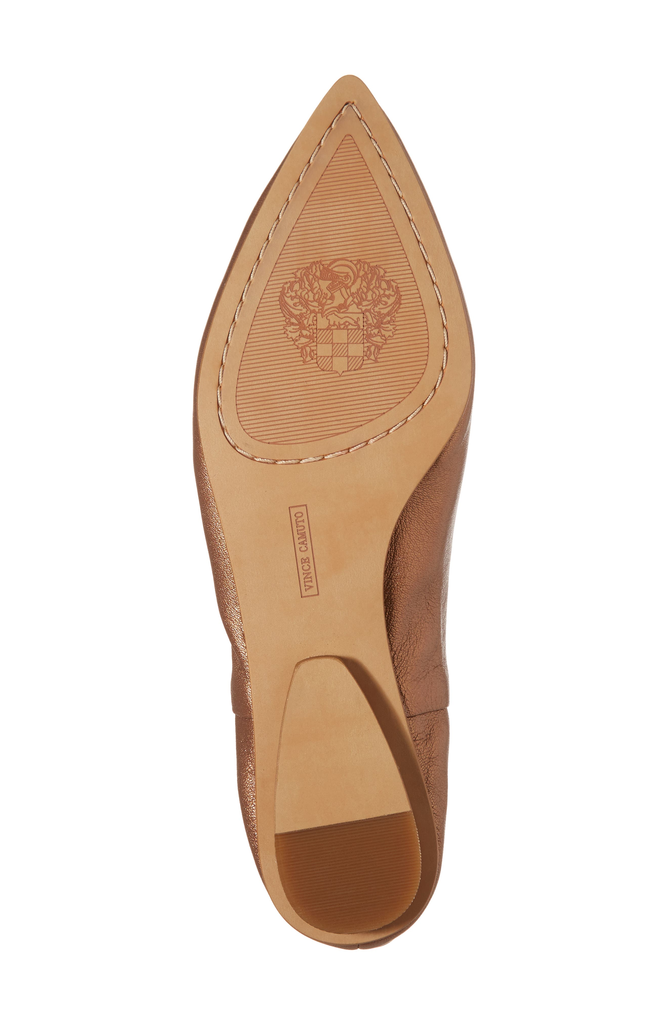 Stanta Pointy Toe Flat,                             Alternate thumbnail 6, color,                             Penny Leather