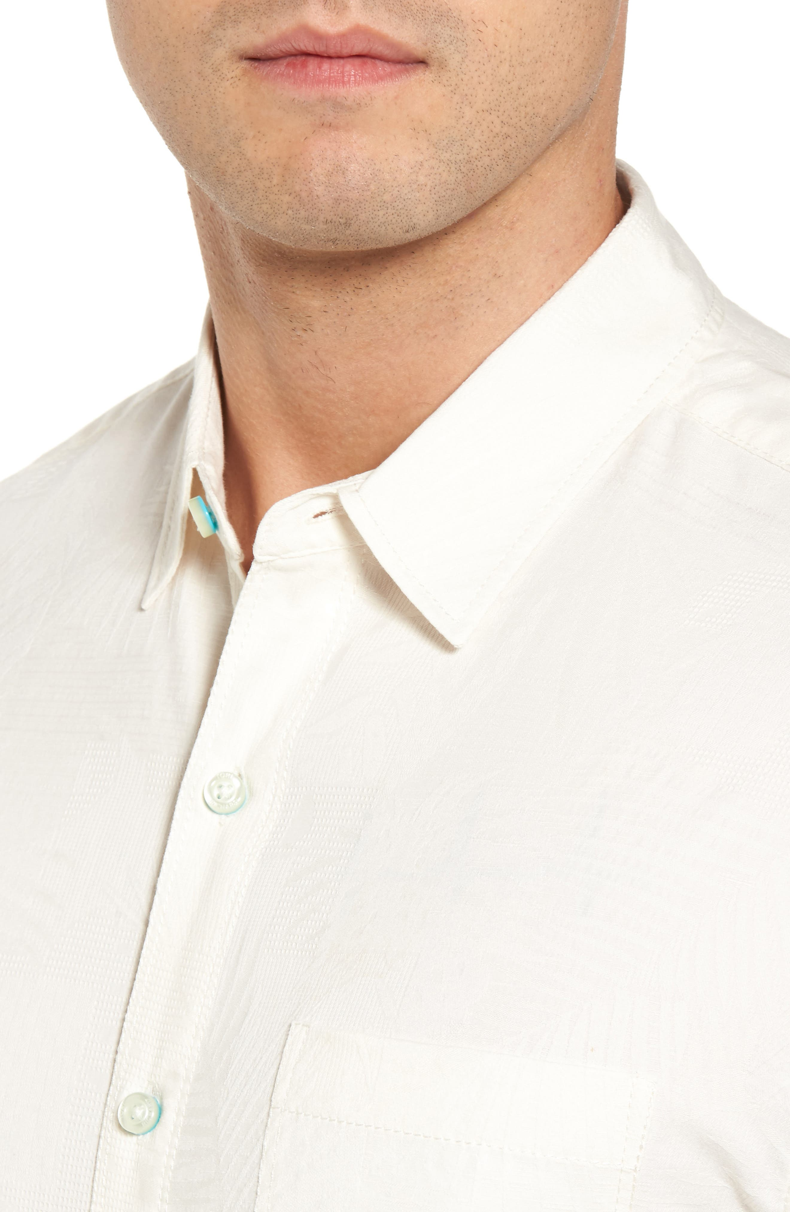 Milagro Classic Fit Sport Shirt,                             Alternate thumbnail 4, color,                             Eggshell