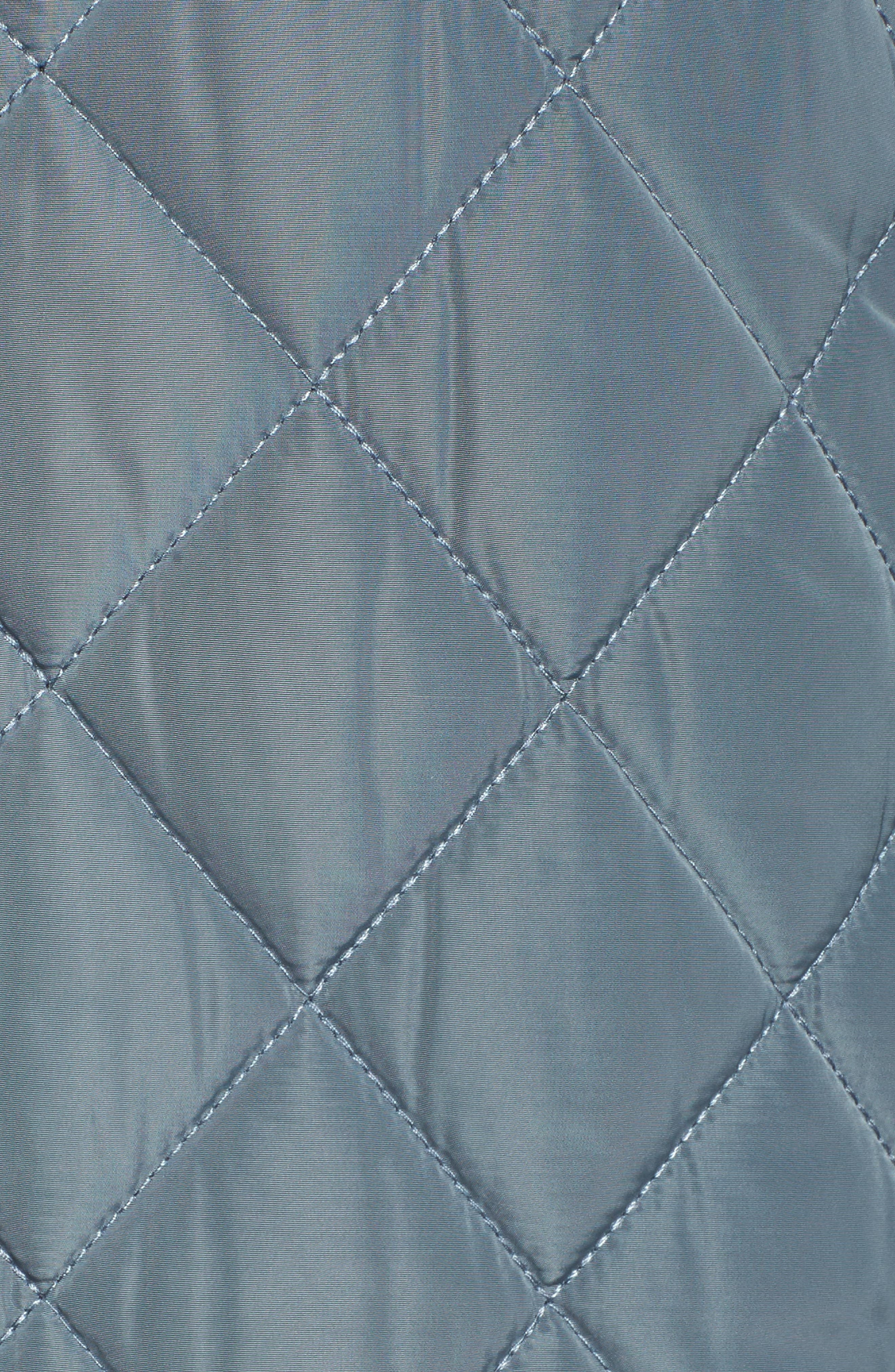 Quilted Hooded Jacket,                             Alternate thumbnail 5, color,                             Patina