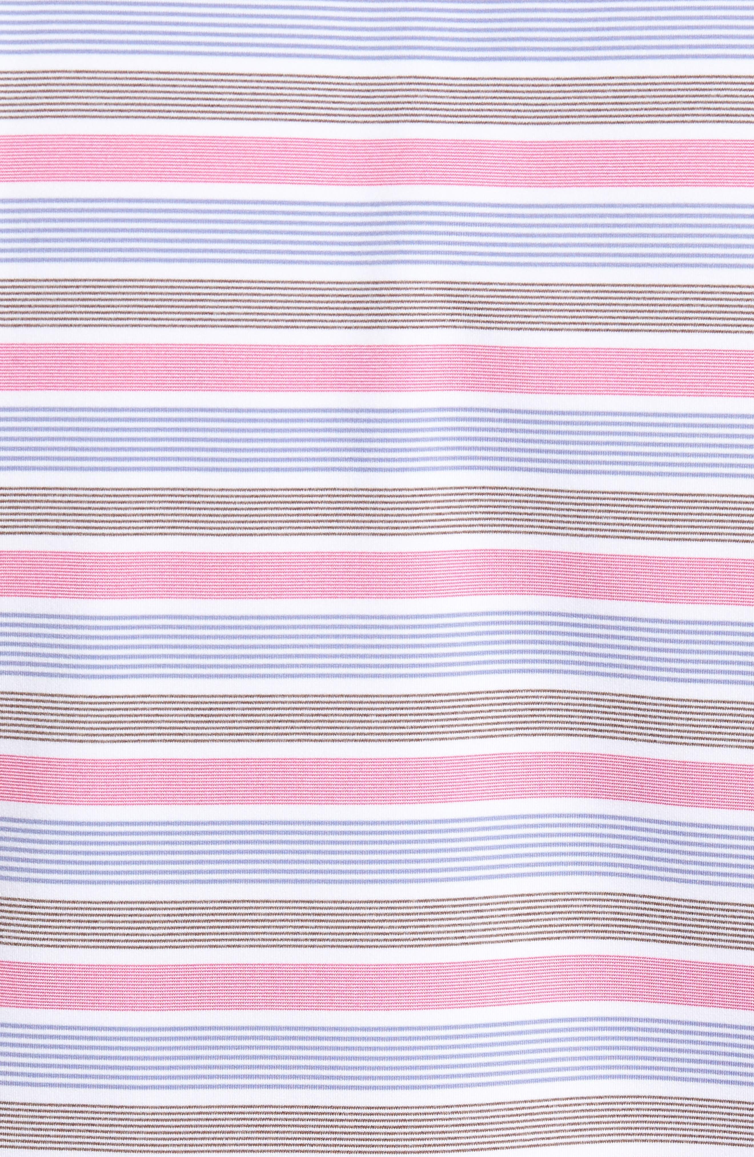 Blount Stripe Stretch Jersey Polo,                             Alternate thumbnail 5, color,                             White/ Thunderbird