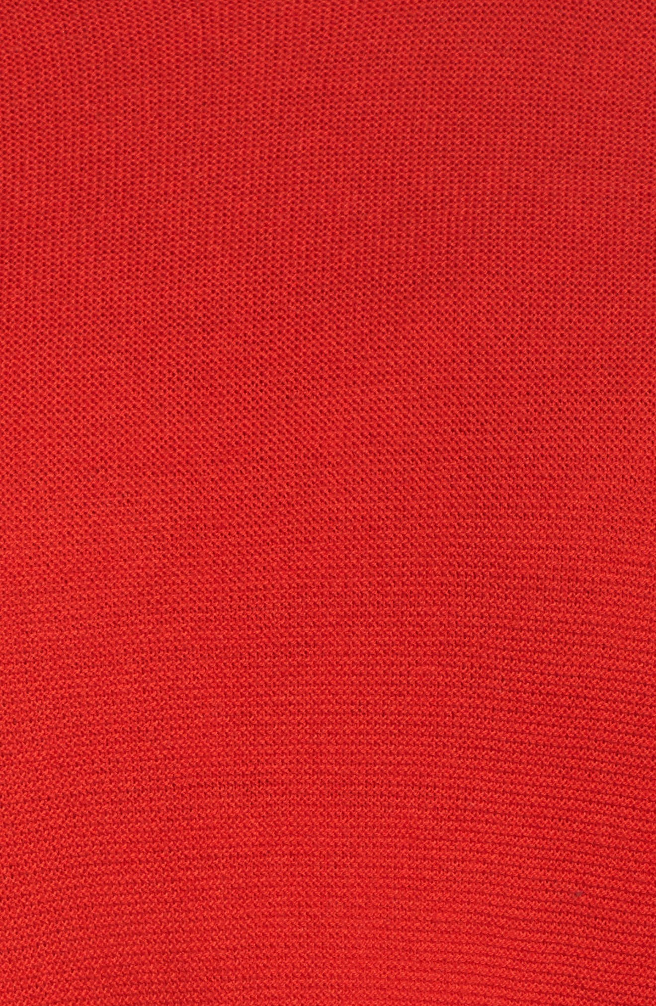 Organic Cotton High/Low Tunic,                             Alternate thumbnail 5, color,                             Lava