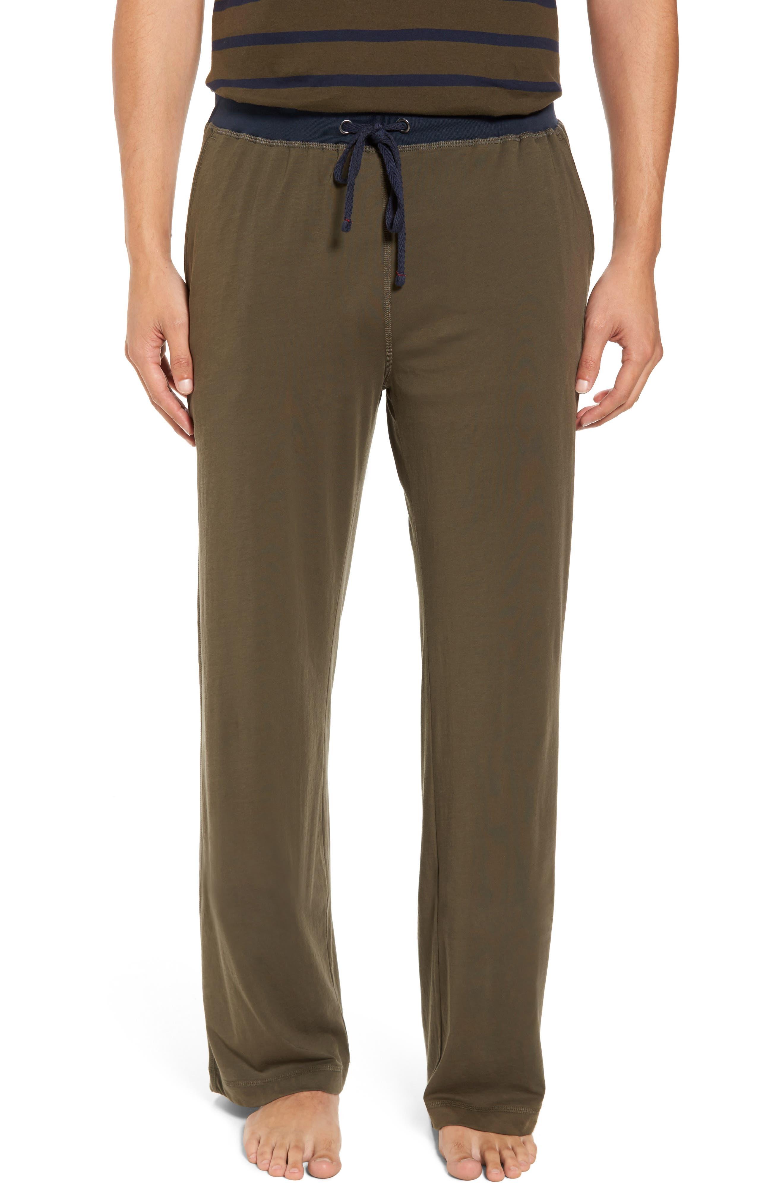 Peruvian Pima Cotton Lounge Pants,                         Main,                         color, Army