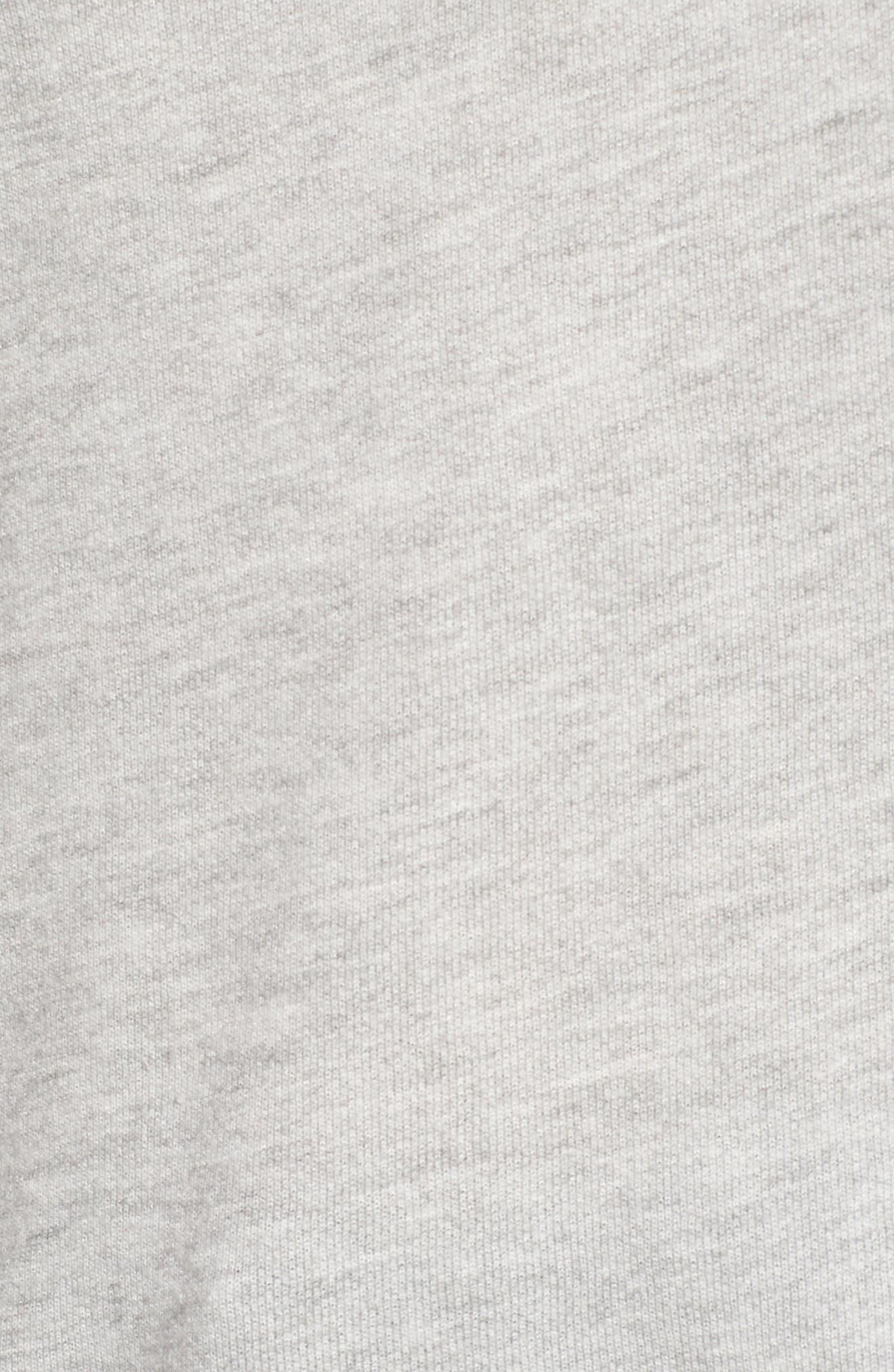 Off the Shoulder Sweatshirt,                             Alternate thumbnail 5, color,                             Grey Heather