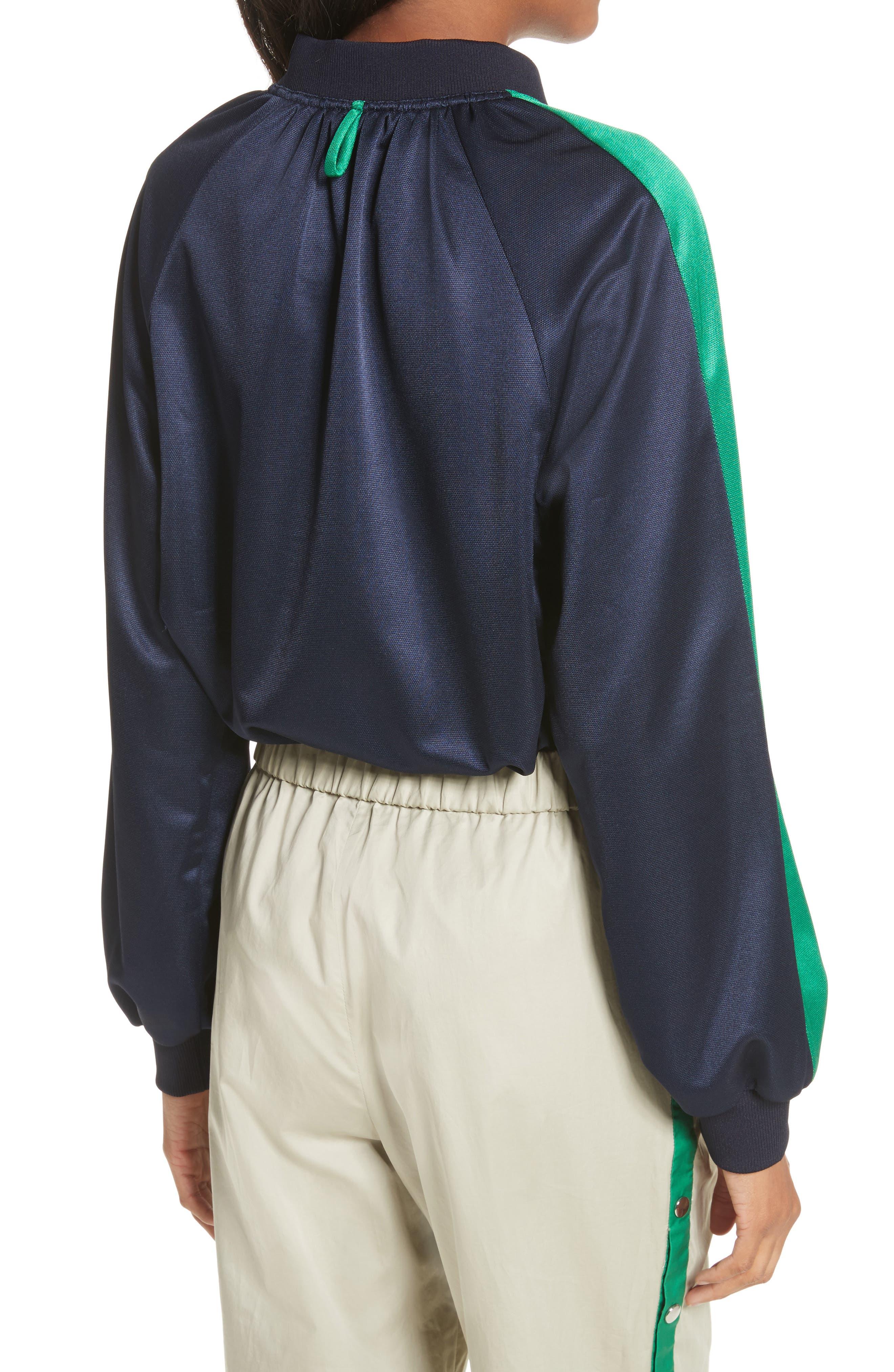Pullover Track Jacket,                             Alternate thumbnail 2, color,                             Navy/ Green Multi
