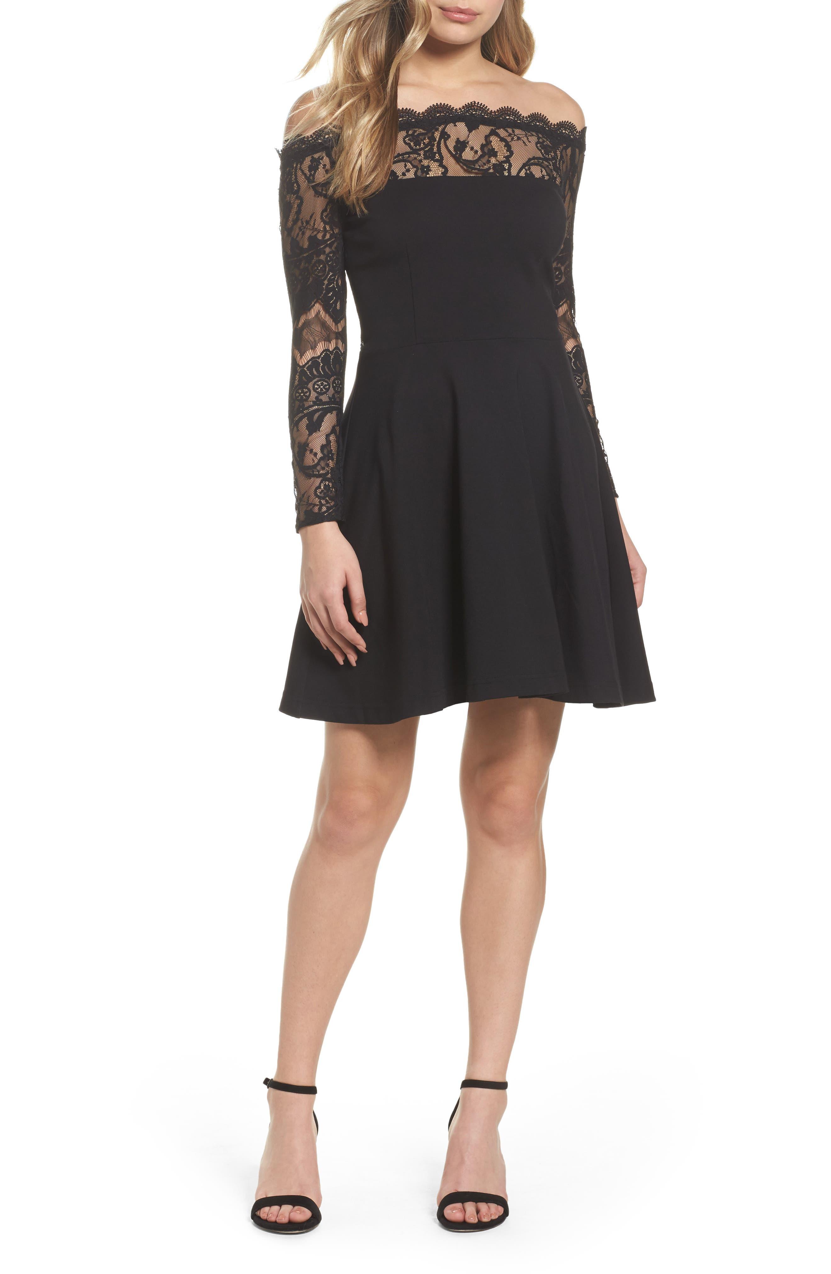 BB Dakota Dennett Off the Shoulder Lace Dress