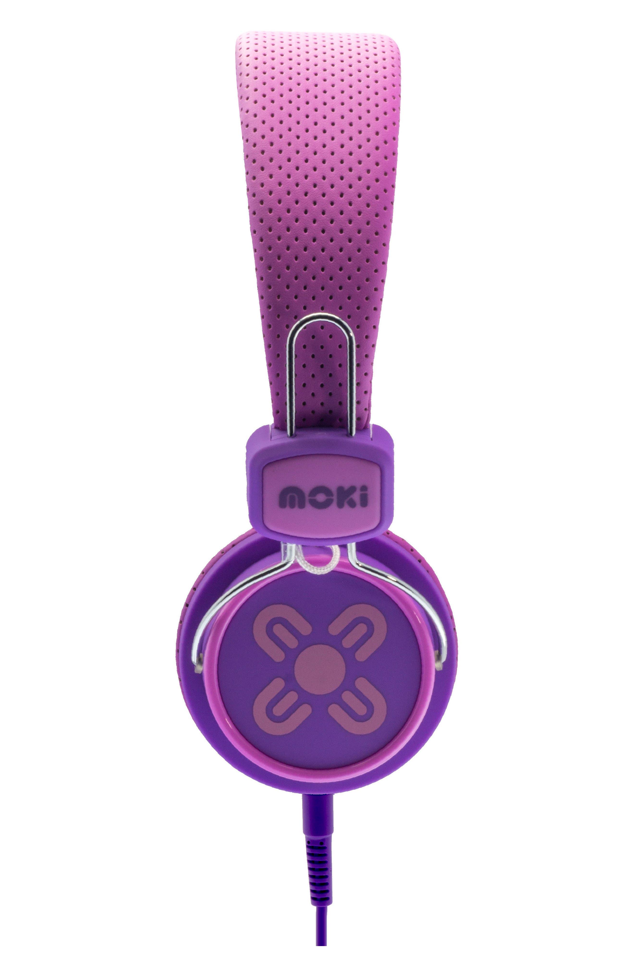 Volume Limited Headphones,                             Alternate thumbnail 4, color,                             Pink/ Purple