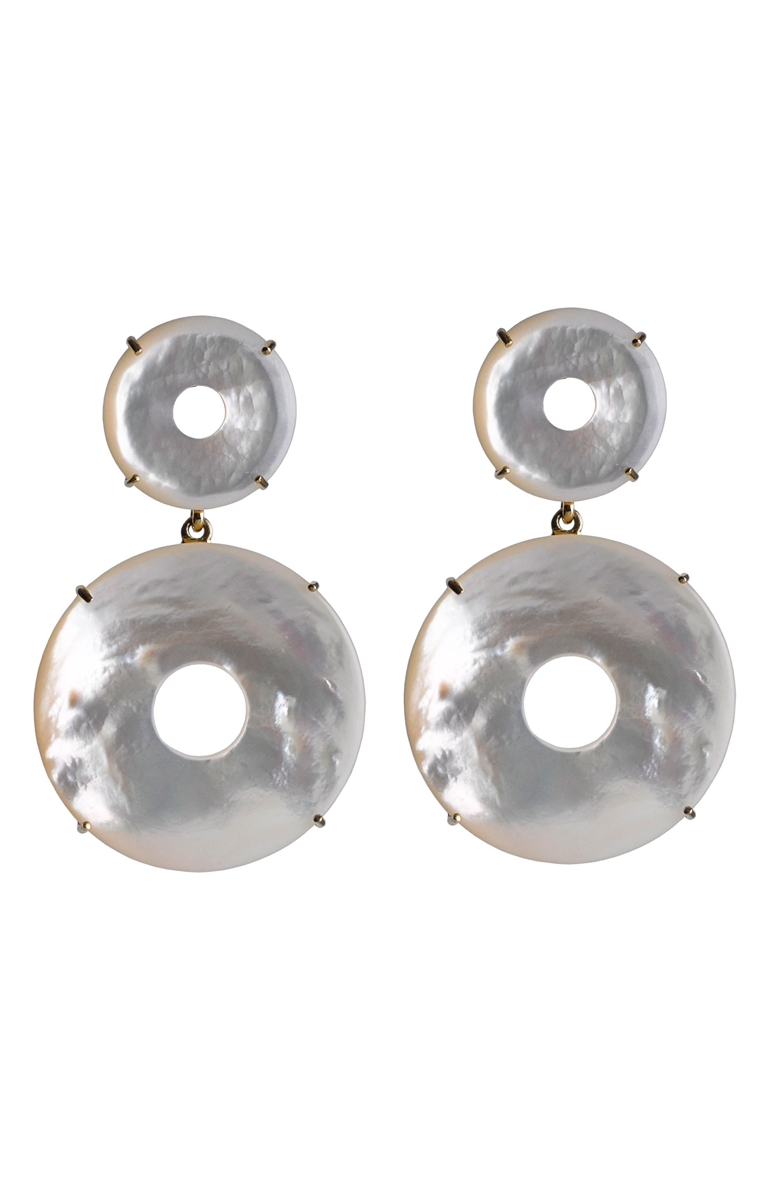 Elizabeth Mother-of-Pearl Drop Earrings,                         Main,                         color, Mother Of Pearl