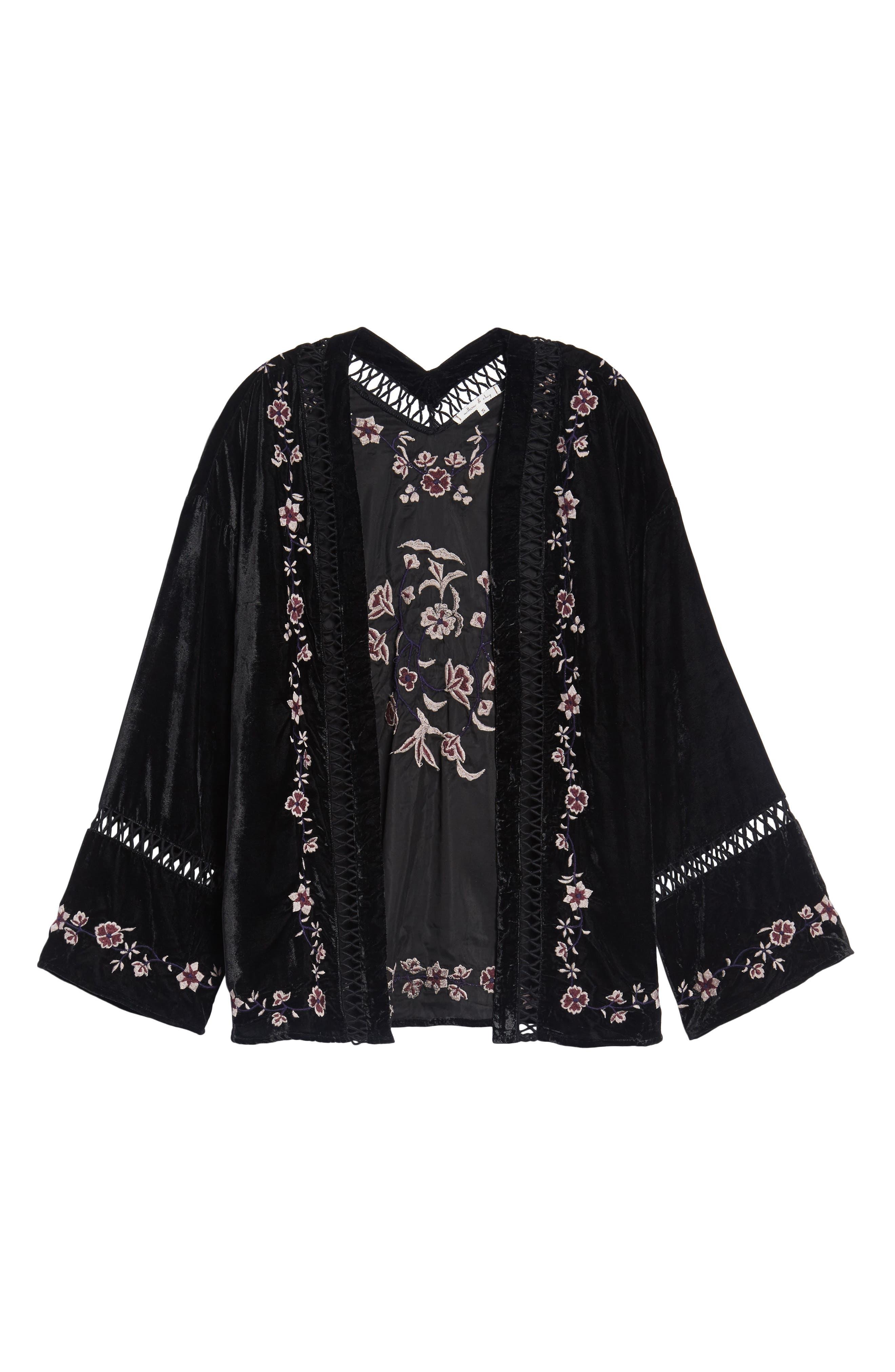 Alternate Image 6  - Willow & Clay Embroidered Velvet Jacket
