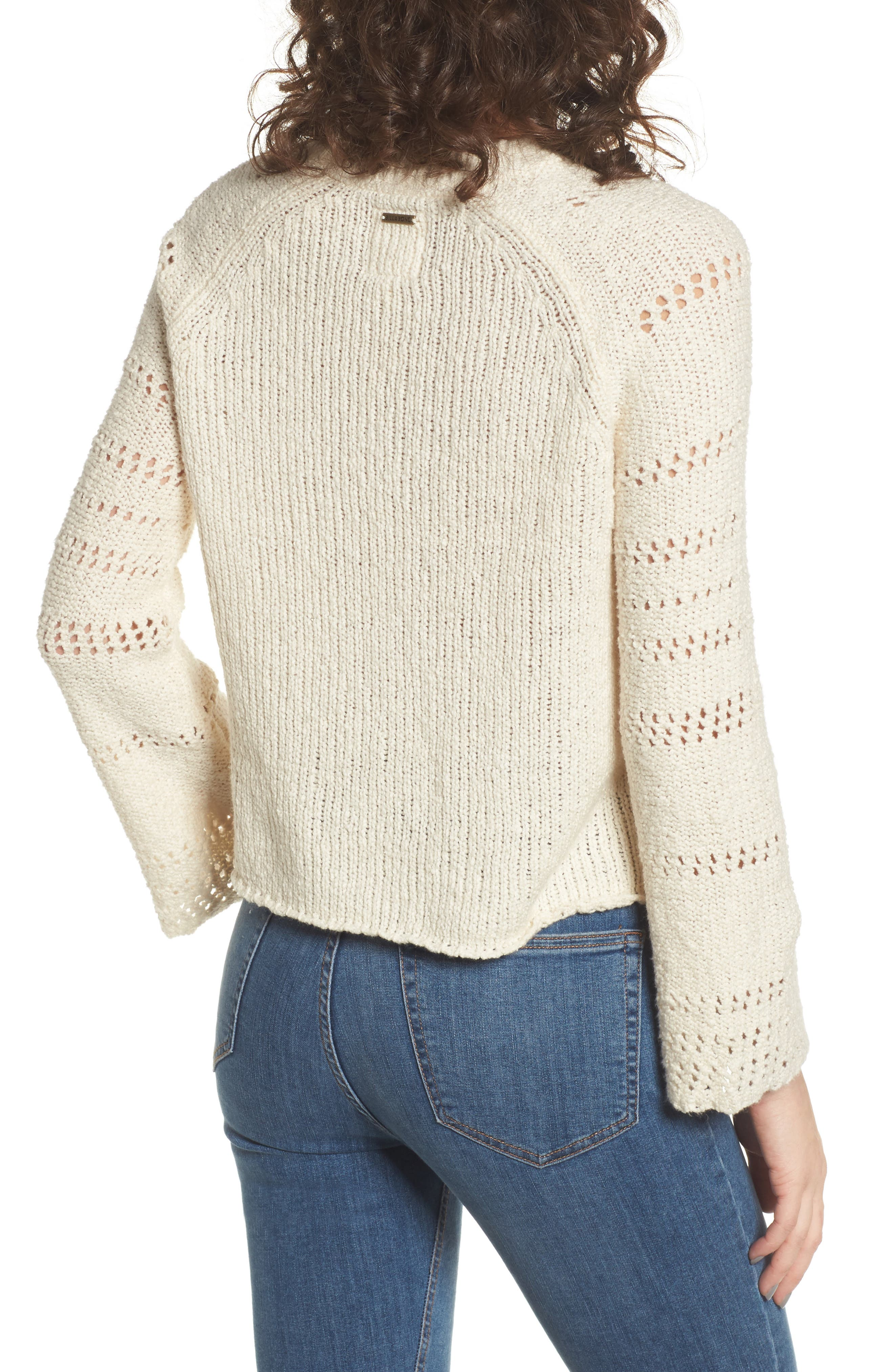 Alternate Image 2  - Billabong Cozy Love Bell Sleeve Sweater