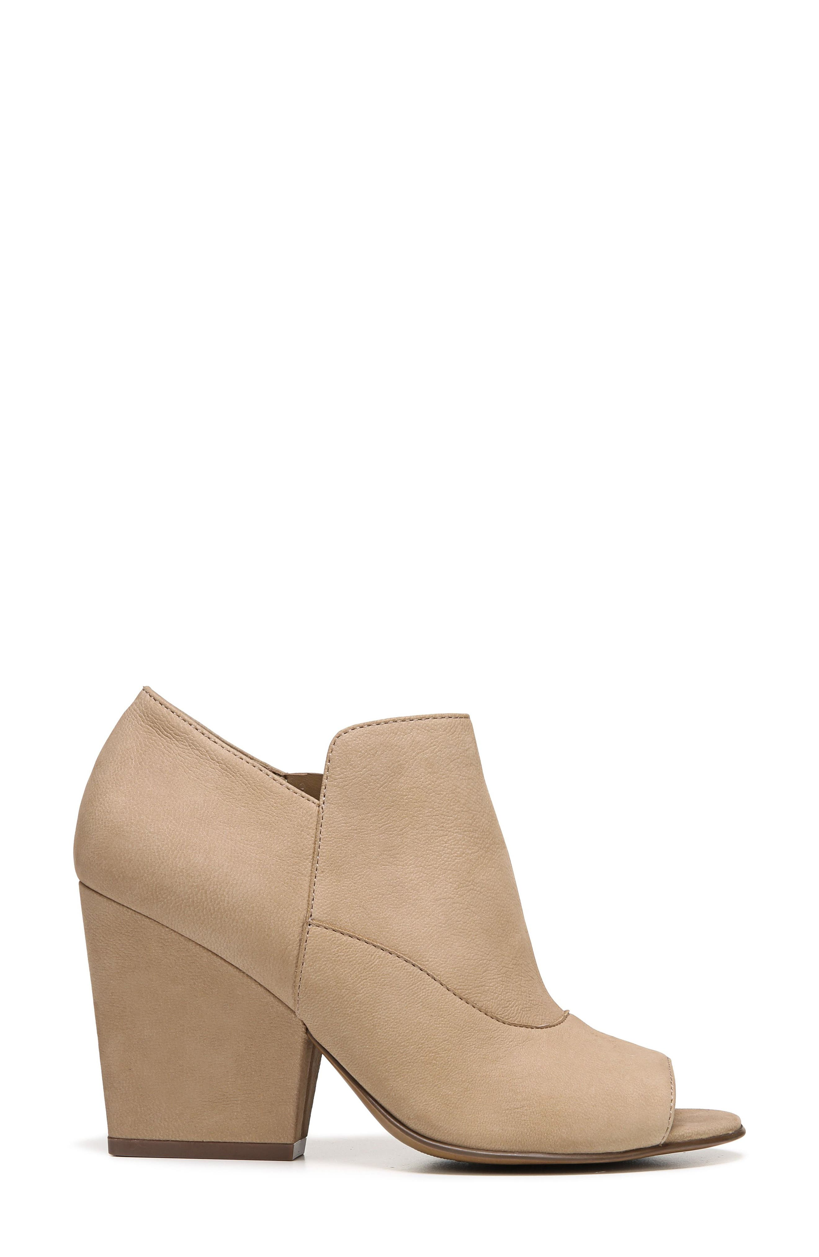 Skylar Open Toe Bootie,                             Alternate thumbnail 3, color,                             Barley Nubuck