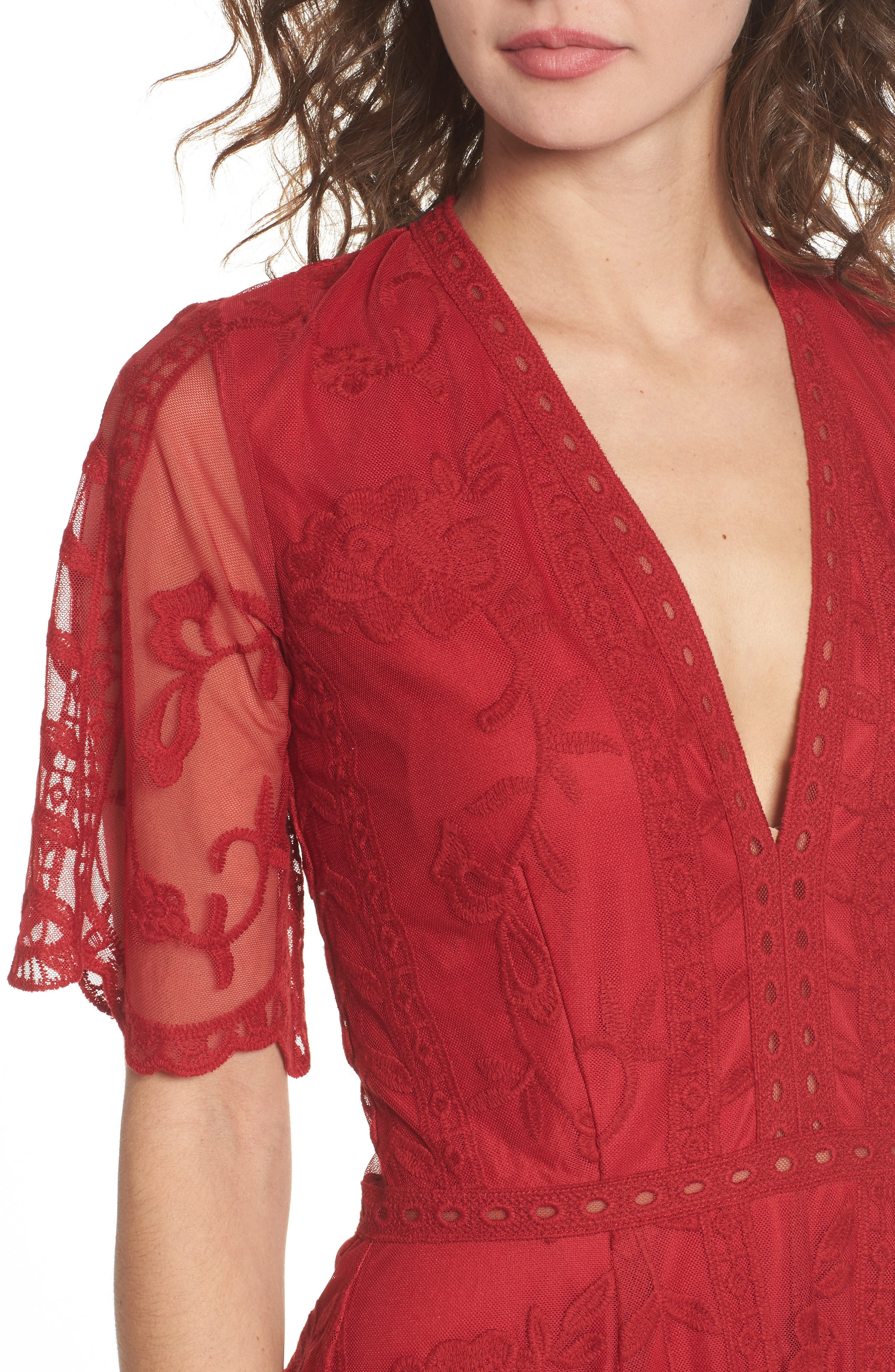 Alternate Image 4  - Socialite Plunging Lace Romper