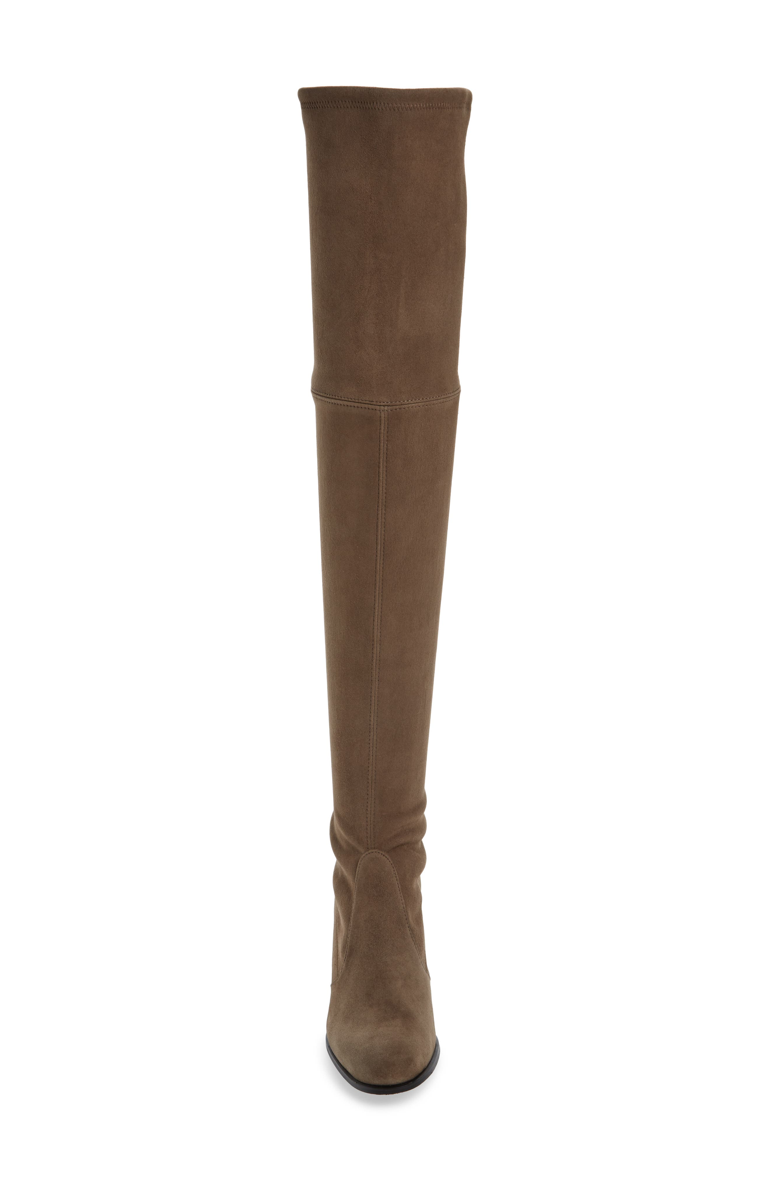 Tieland Over the Knee Boot,                             Alternate thumbnail 5, color,                             Praline Suede