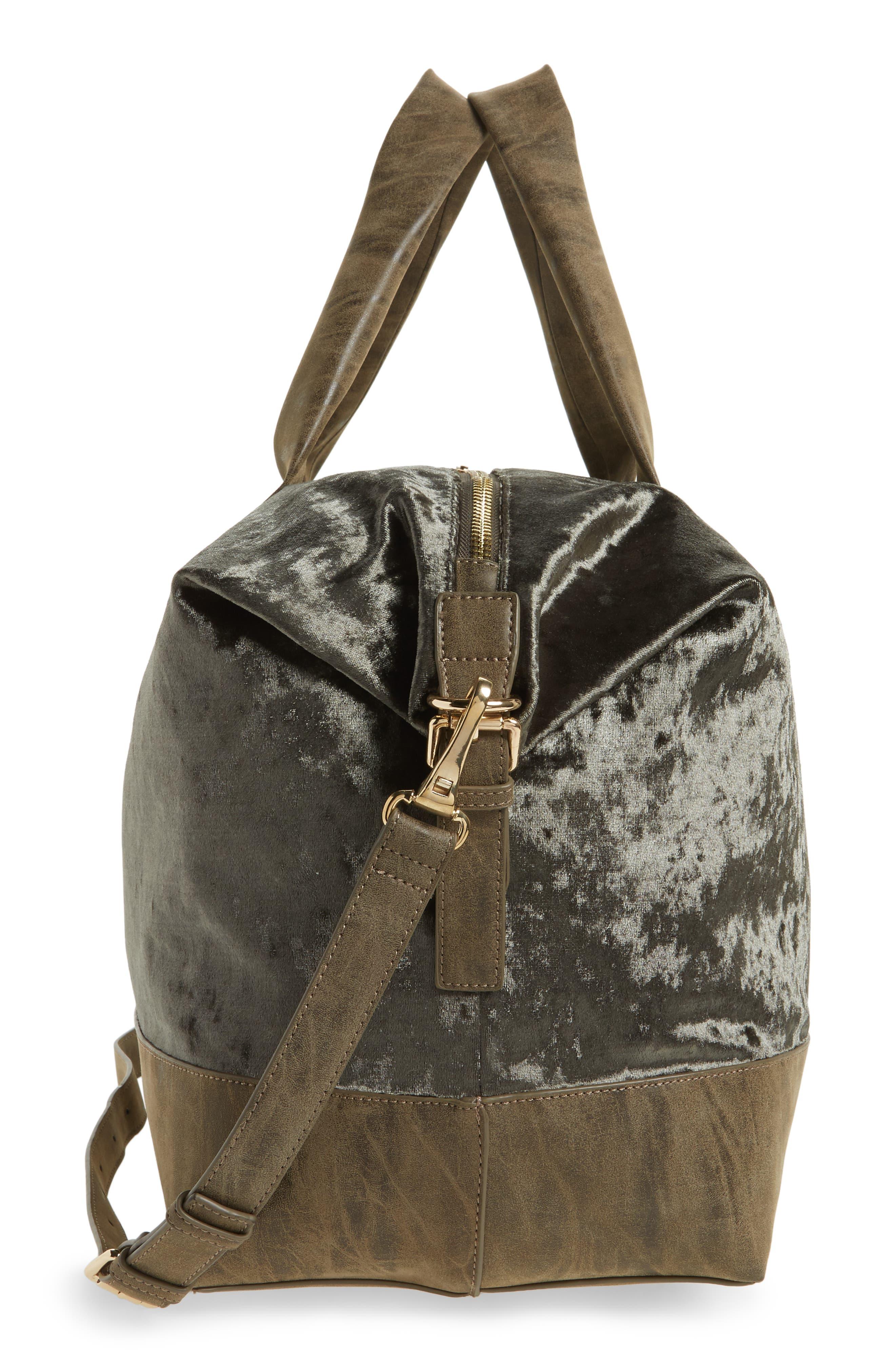 Alternate Image 5  - Sole Society Venti Velvet Duffel Bag