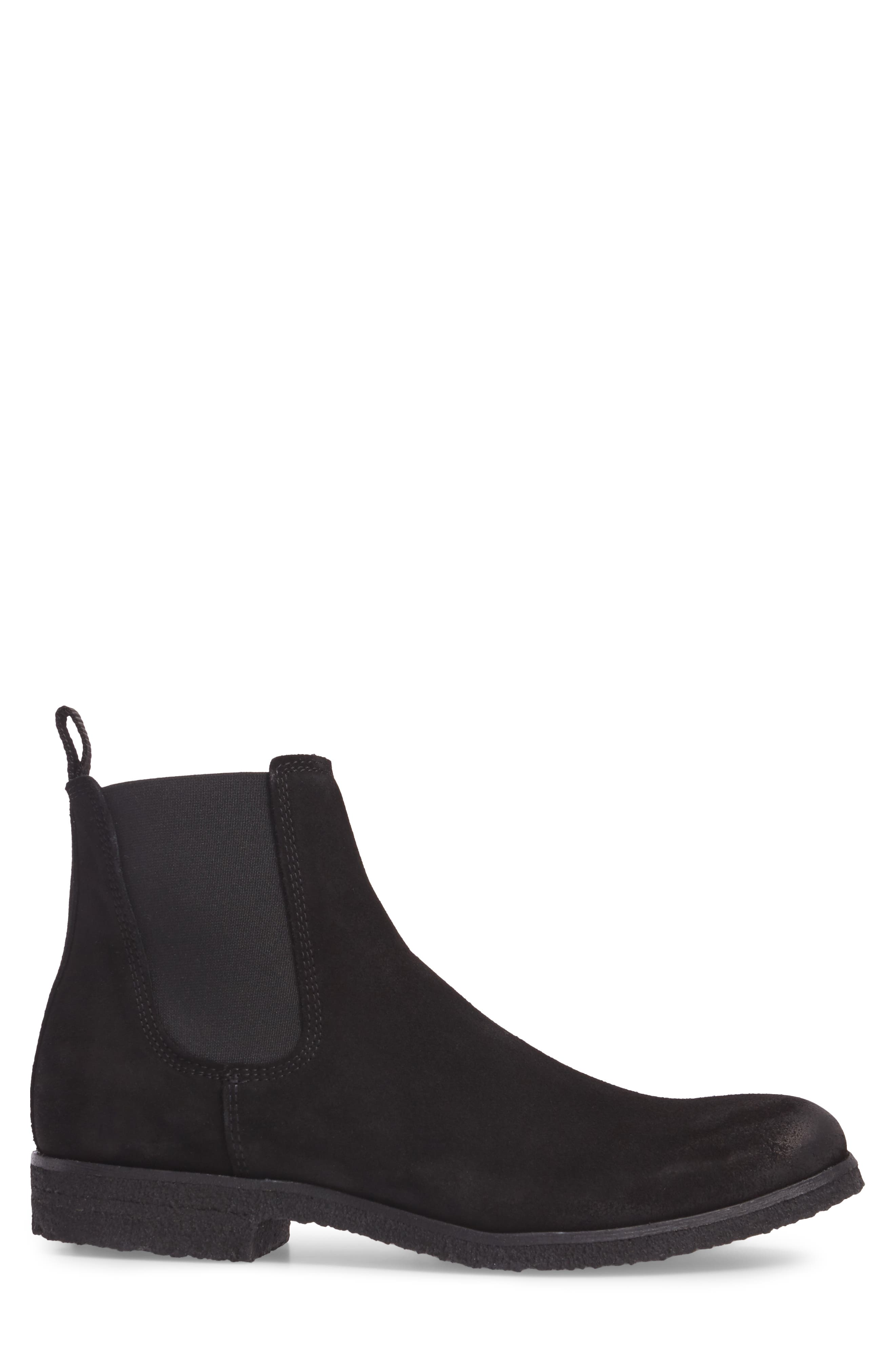 Jared Chelsea Boot,                             Alternate thumbnail 3, color,                             Black Suede