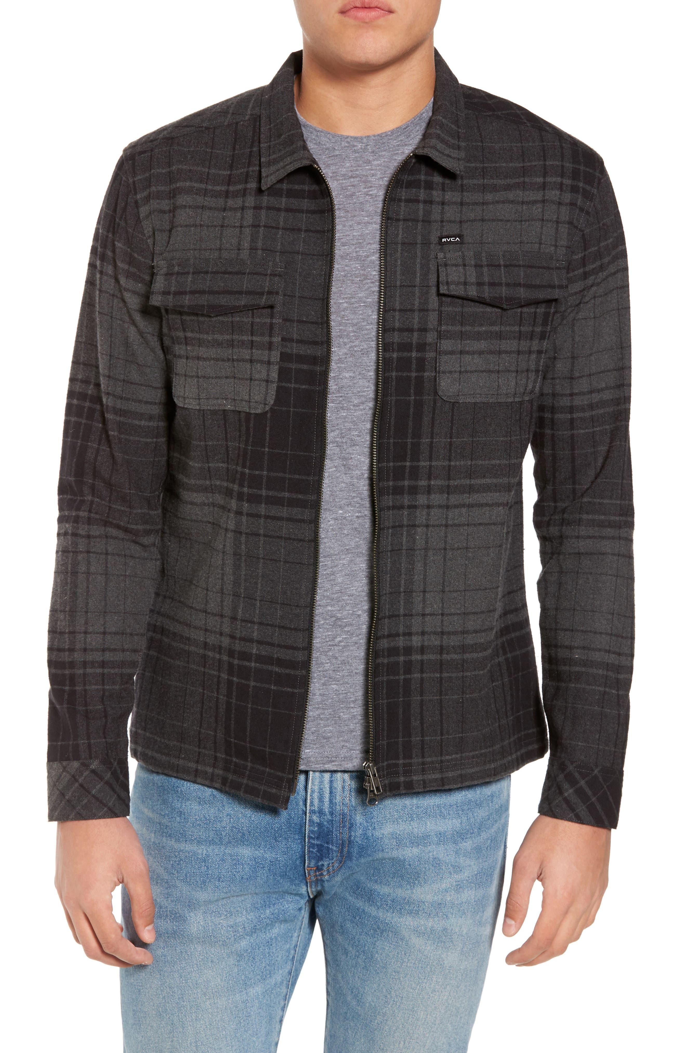 Lamar Shirt Jacket,                         Main,                         color, Black