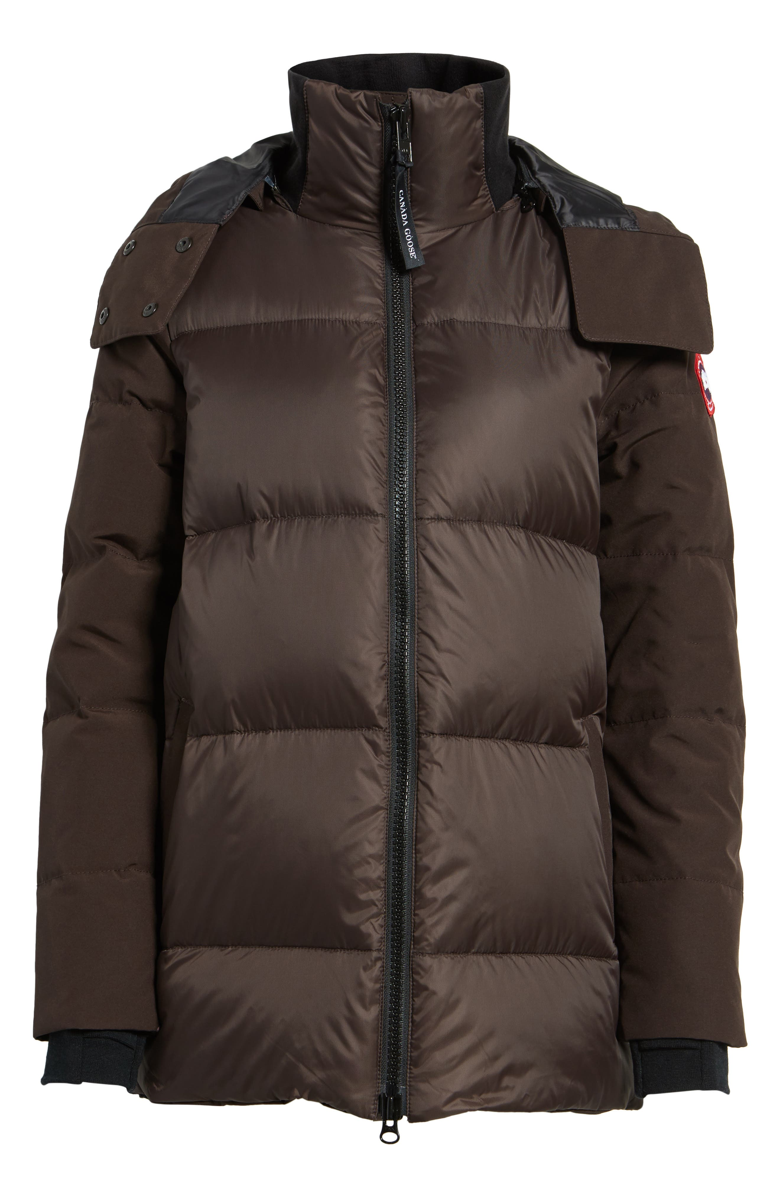 Whitehorse Hooded Water Resistant 675-Fill-Power Down Parka,                         Main,                         color, Charred Wood