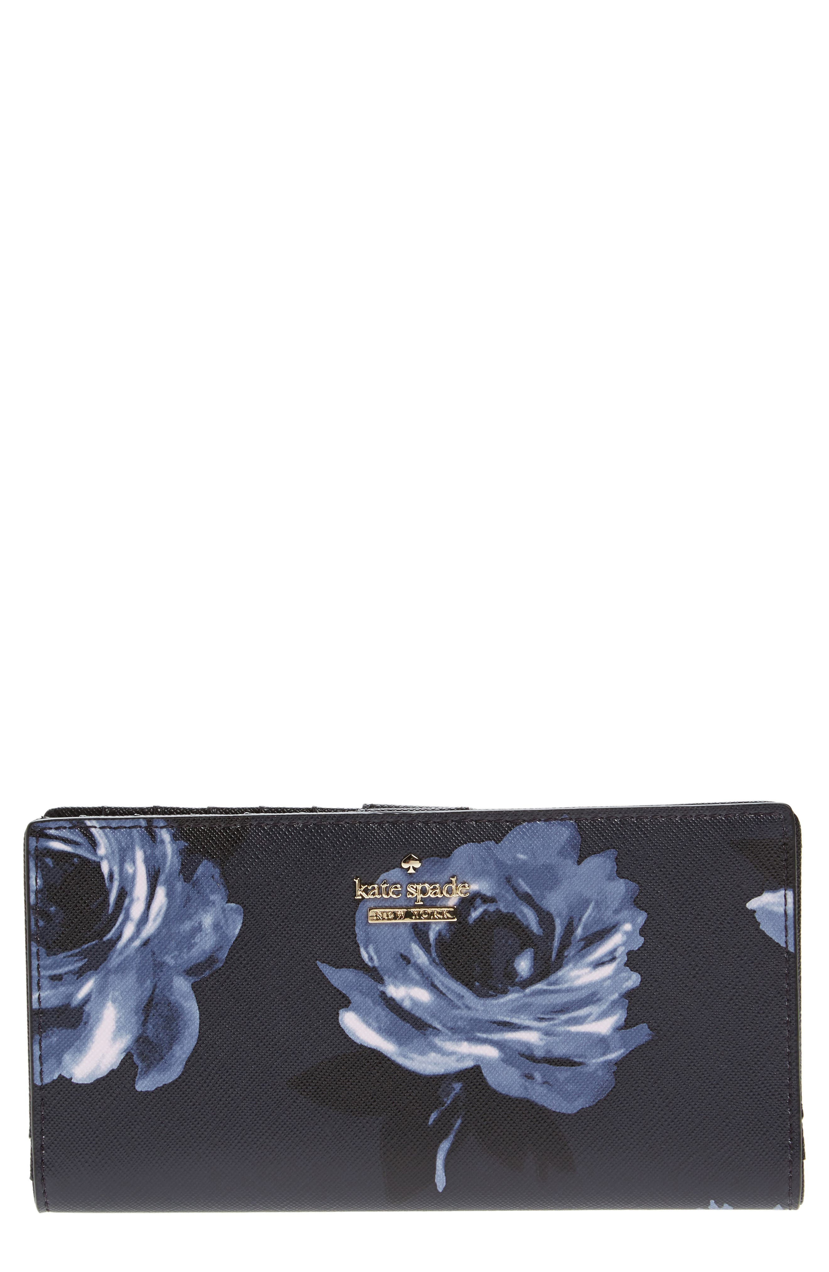 cameron street - stacy leather wallet,                         Main,                         color, Rich Navy Multi