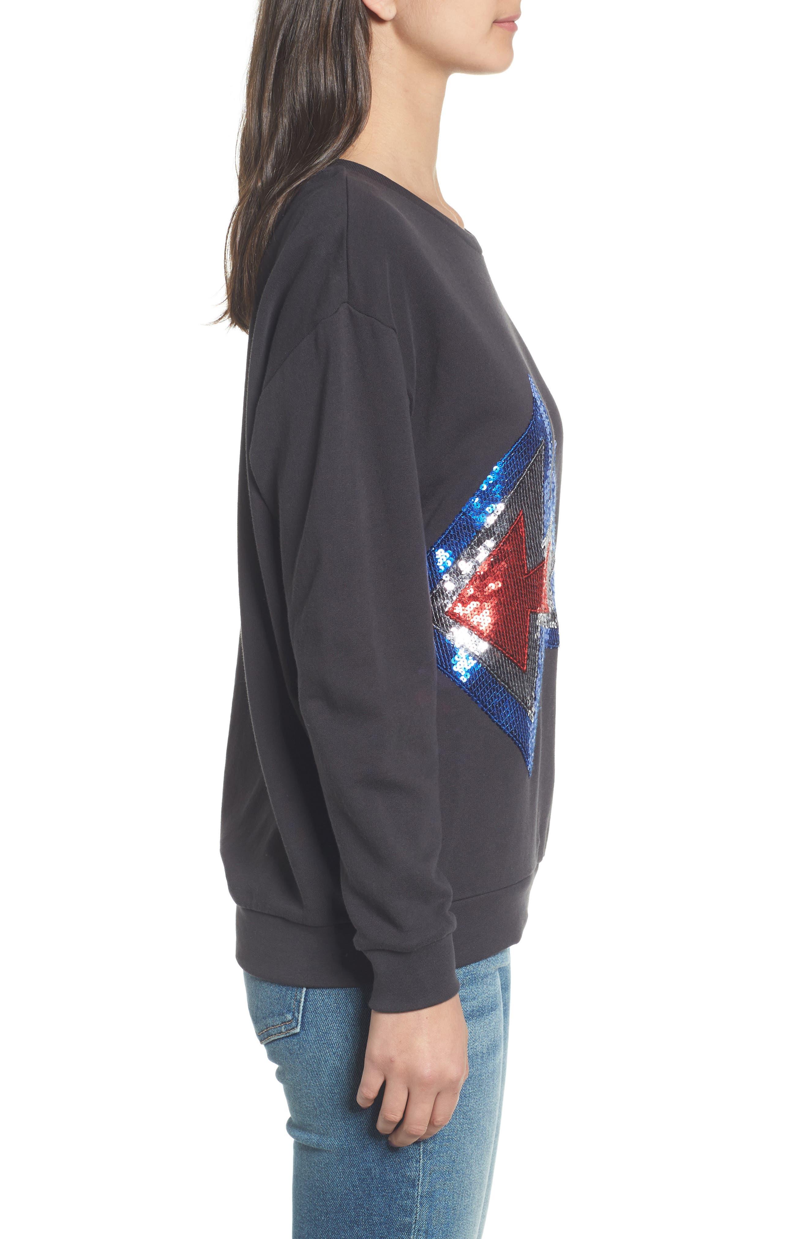 Alexa - Splash Sweatshirt,                             Alternate thumbnail 3, color,                             Black