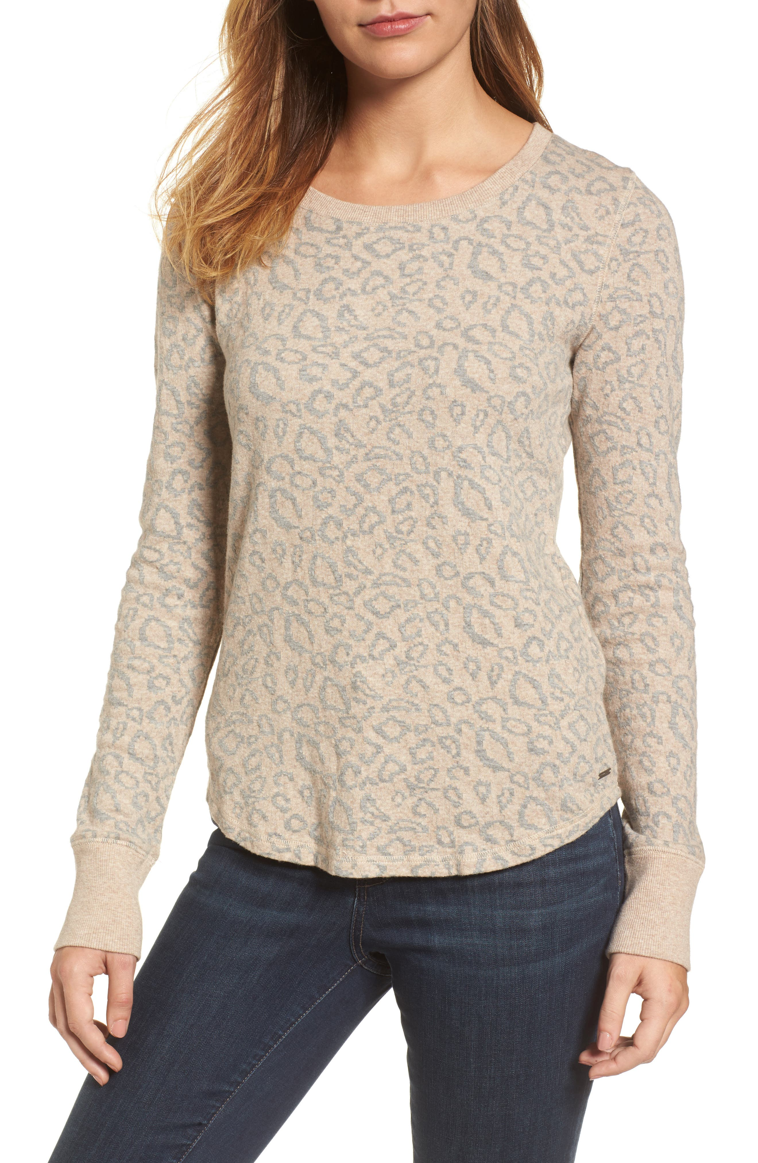 Alternate Image 1 Selected - Lucky Brand Cheetah Print Top