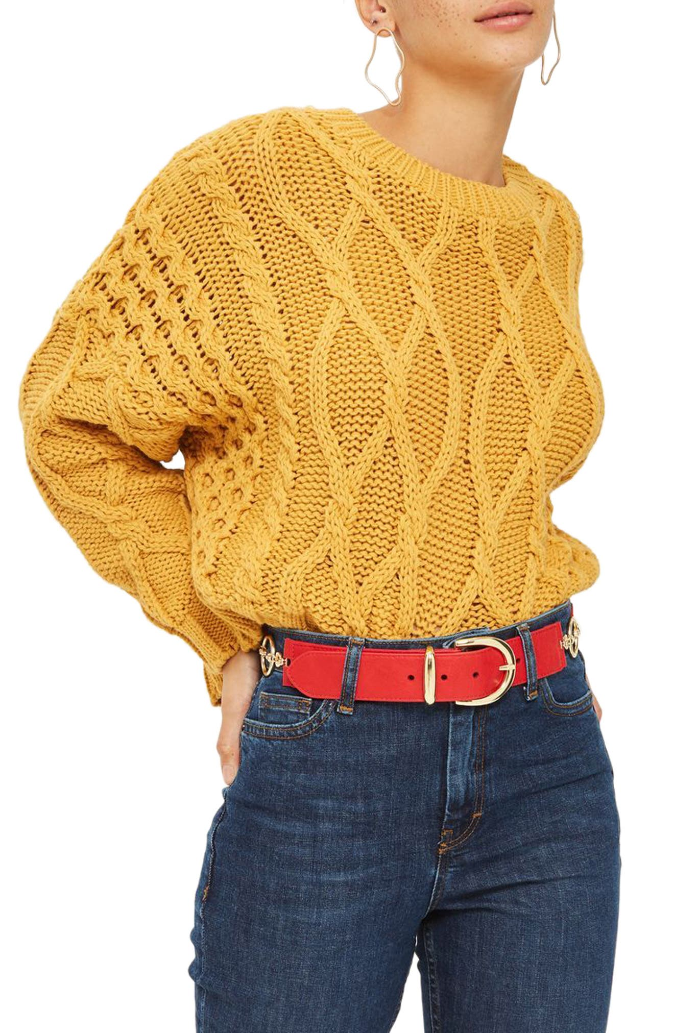 Alternate Image 2  - Topshop Logo Link Faux Leather Belt